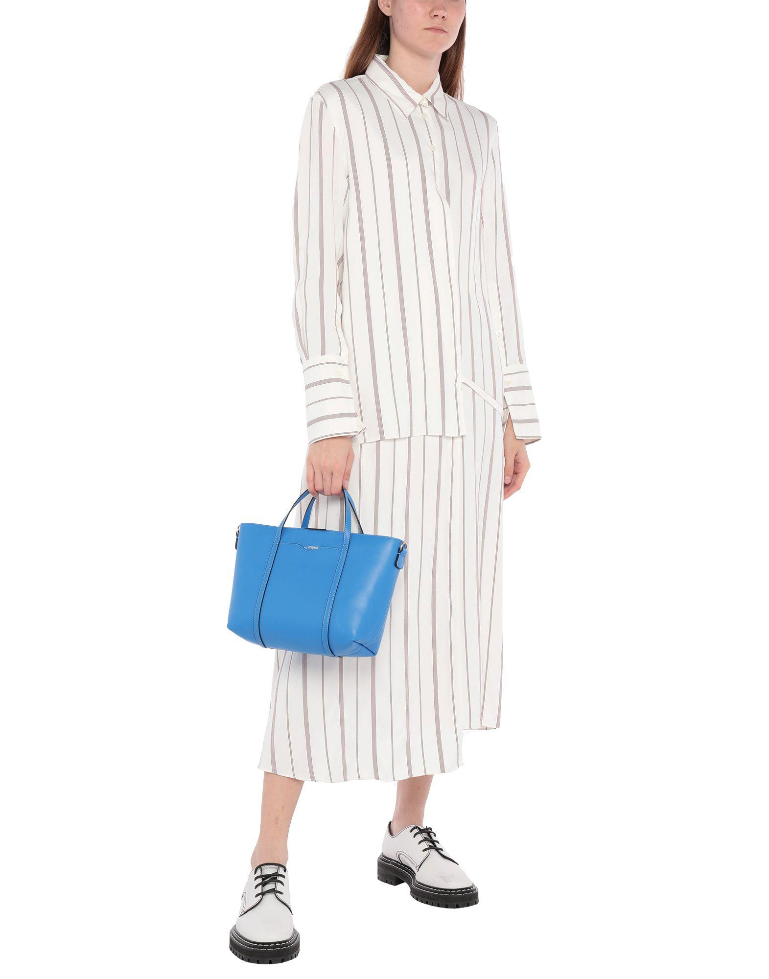 ..,merci Leder Handtaschen in Blau  iPolc