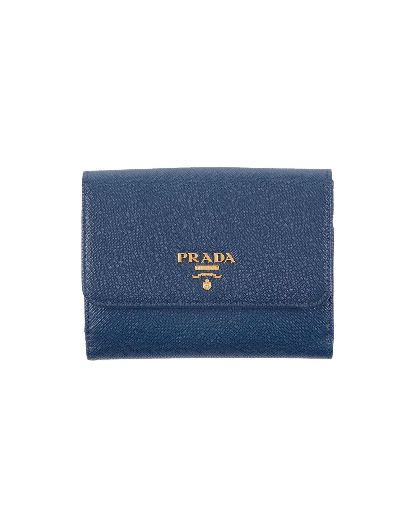 26e8ff4afa3110 ... cheap prada blue wallets for men lyst. view fullscreen 0587d 45331