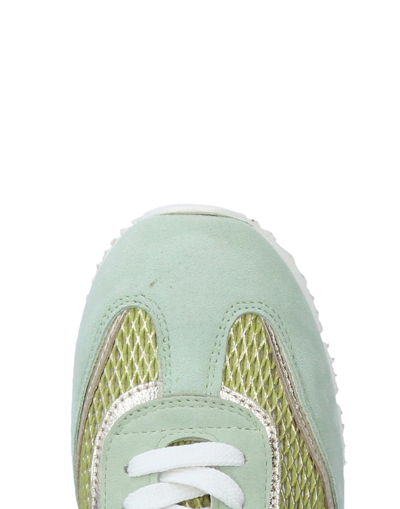 D'Acquasparta Leather Low-tops & Sneakers in Light Green (Green)