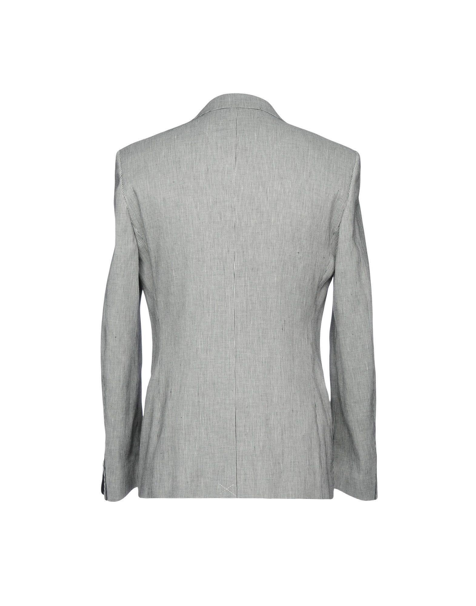 Tonello Linen Suit Jacket in Black for Men