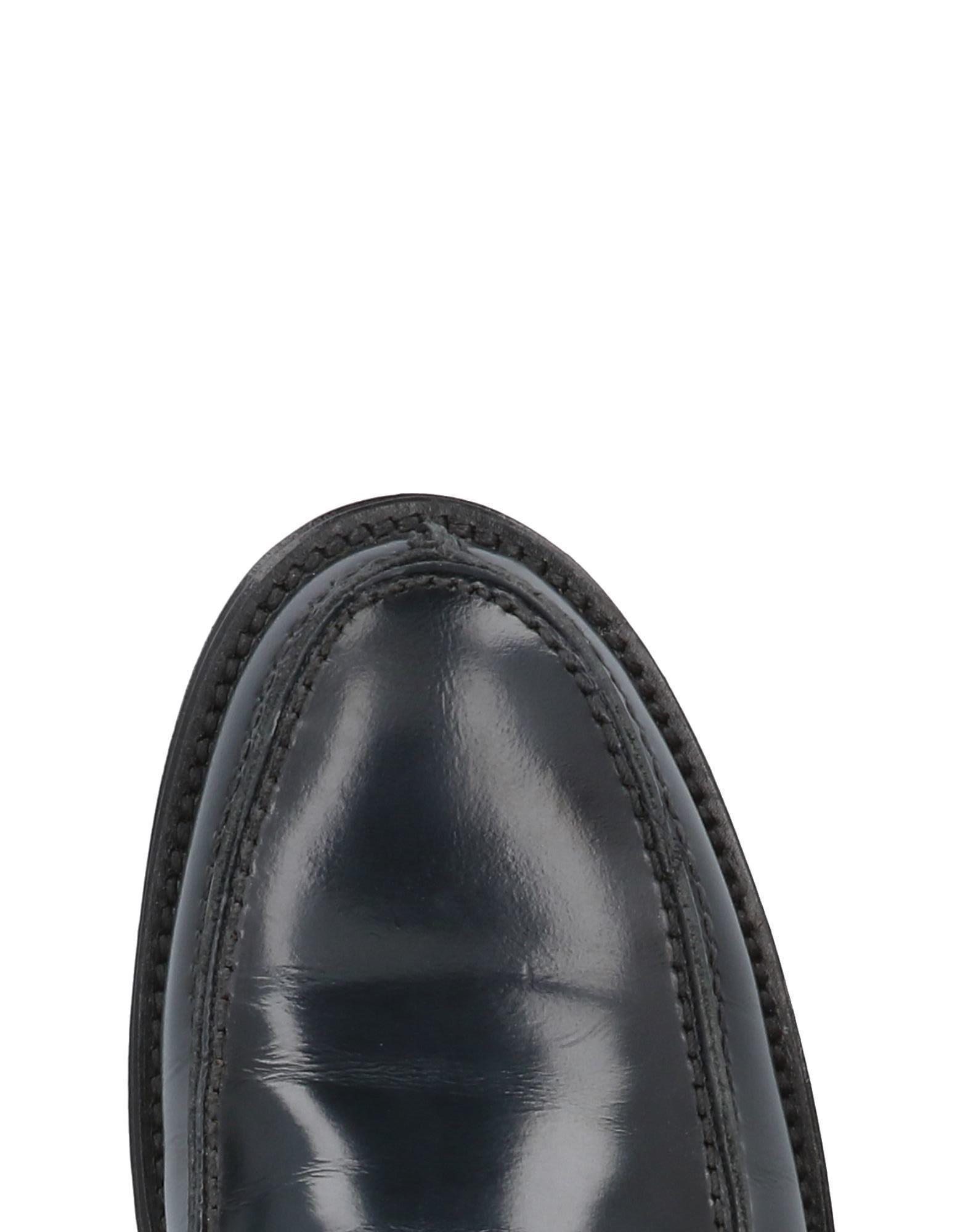 Bruno Verri Leather Loafer in Dark Blue (Blue) for Men