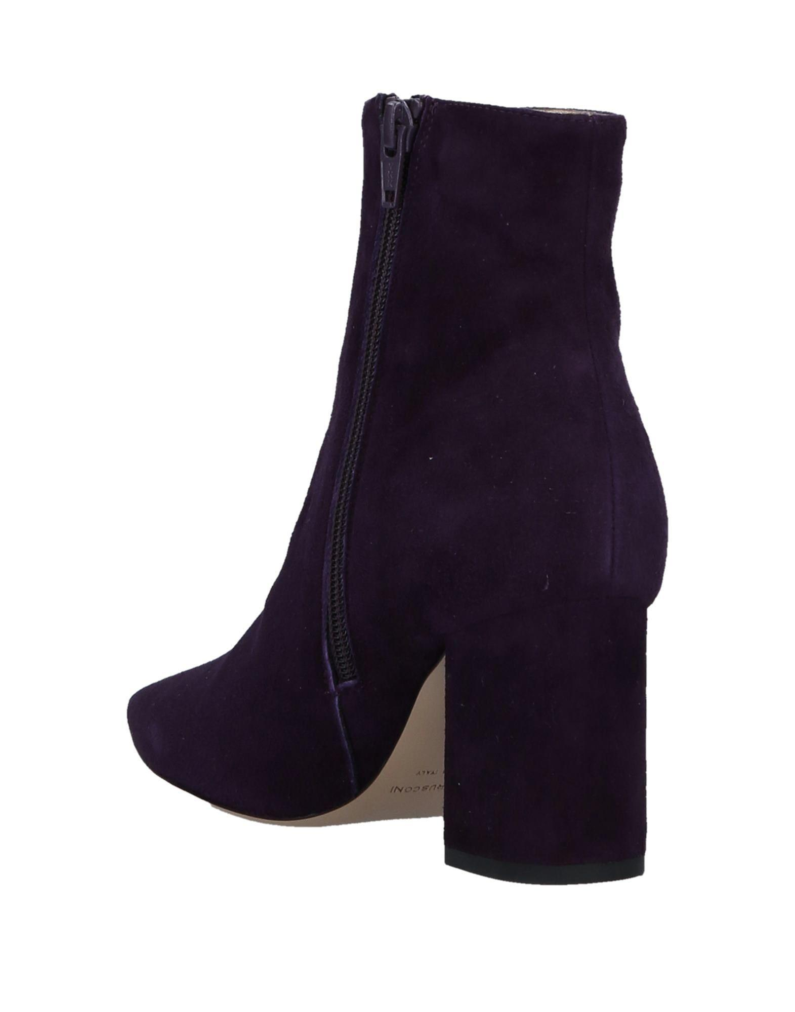 Fabio Rusconi Suede Ankle Boots in Purple
