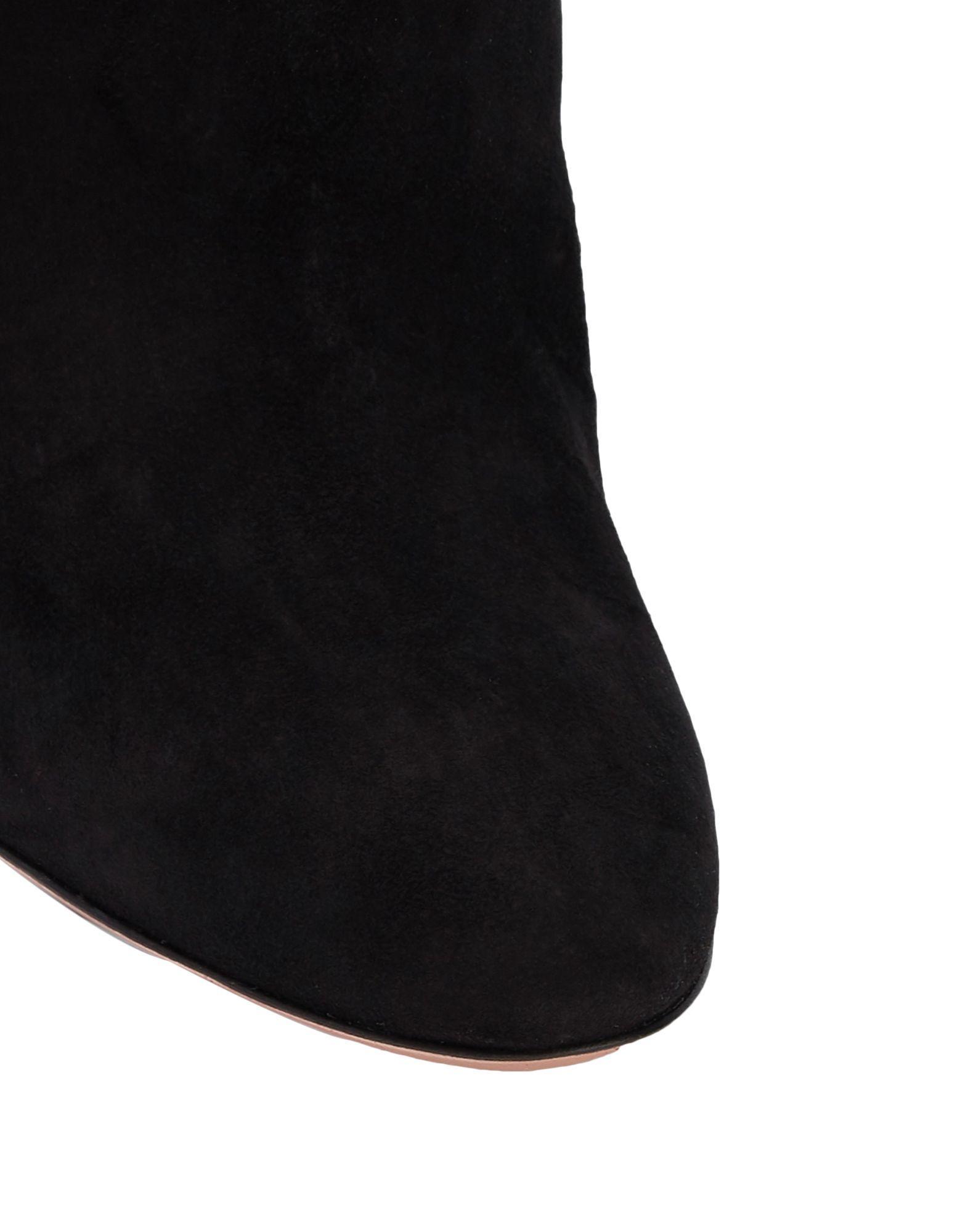 Botines de caña alta Aquazzura de Ante de color Negro