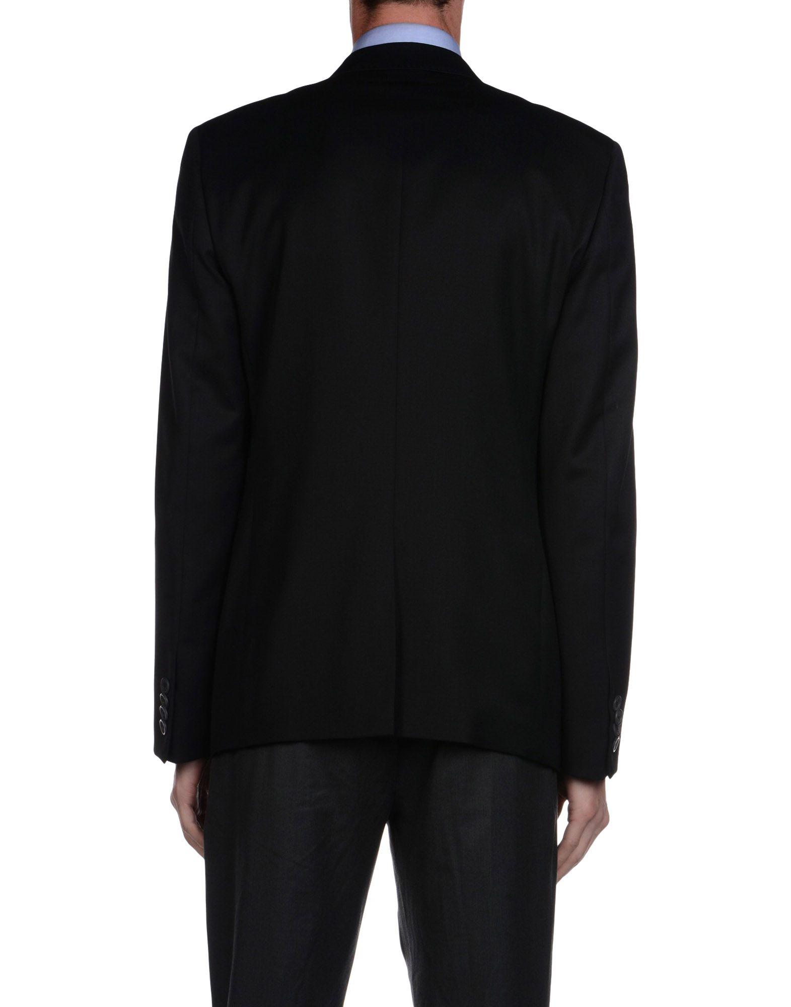 Frankie Morello Wool Blazer in Black for Men