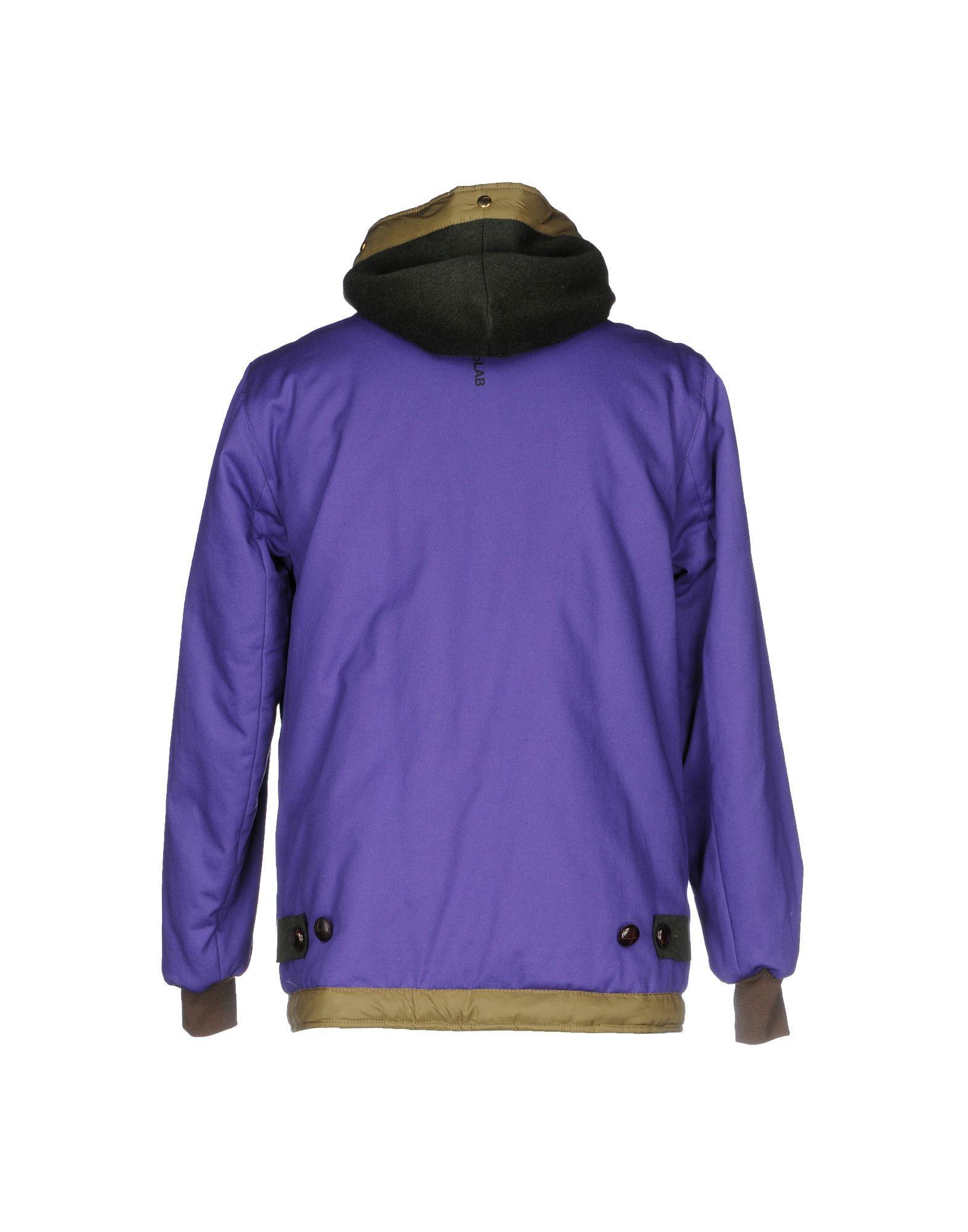 Equipe 70 Cotton Jacket in Purple for Men
