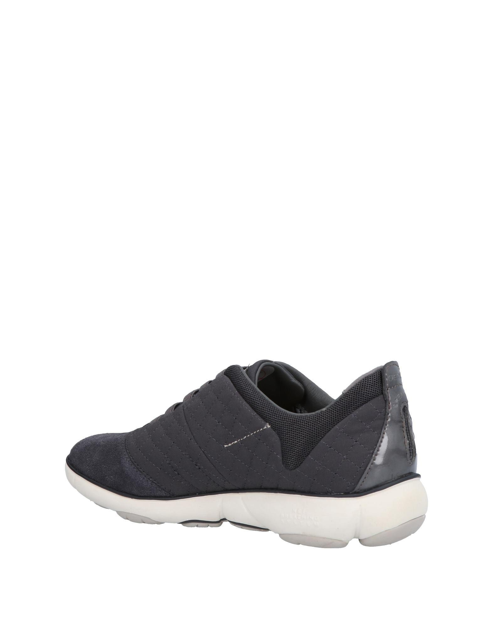 Geox Leather Low-tops & Sneakers in Lead (Grey)