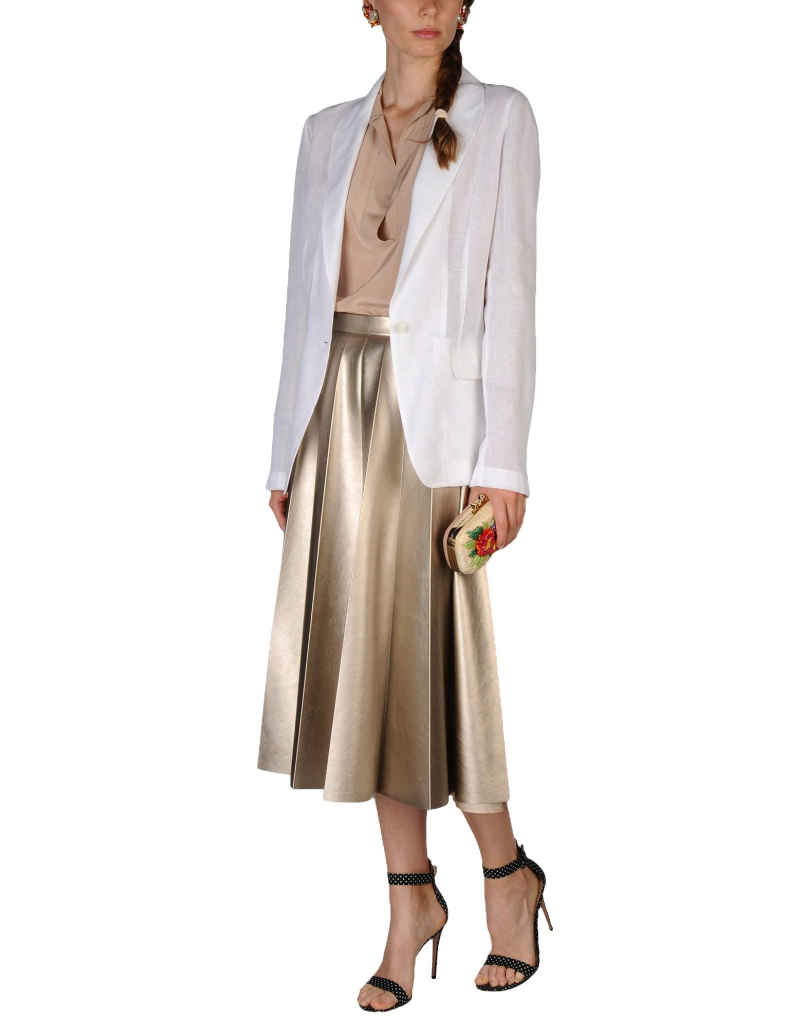 michael kors blazer in multicolor white lyst. Black Bedroom Furniture Sets. Home Design Ideas