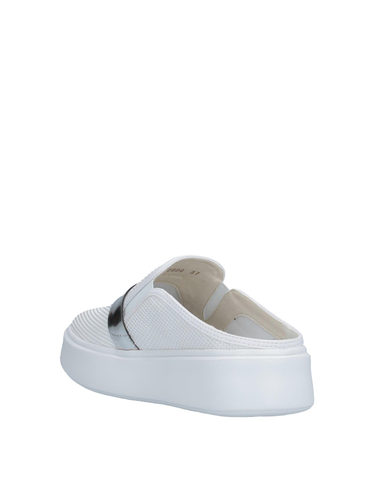 Mules & Zuecos Geox de Caucho de color Blanco