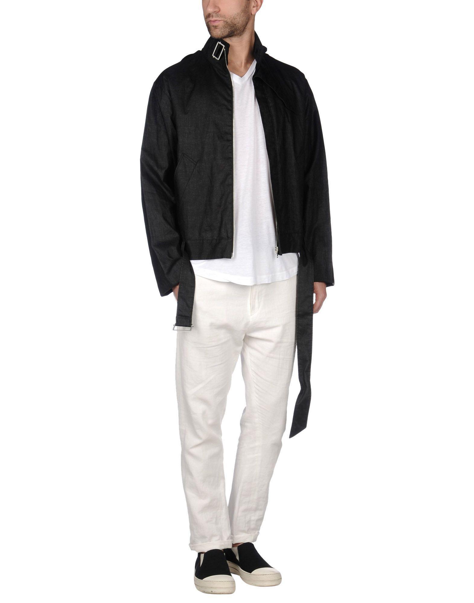 Maison Margiela Linen Jacket in Black for Men