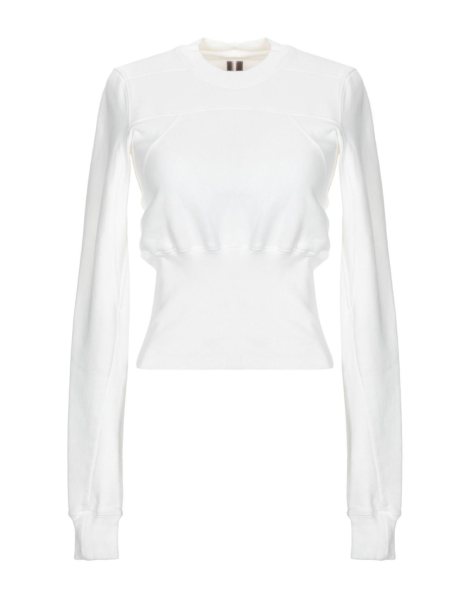 6690a57e40587 Lyst - Drkshdw By Rick Owens Sweatshirt in White