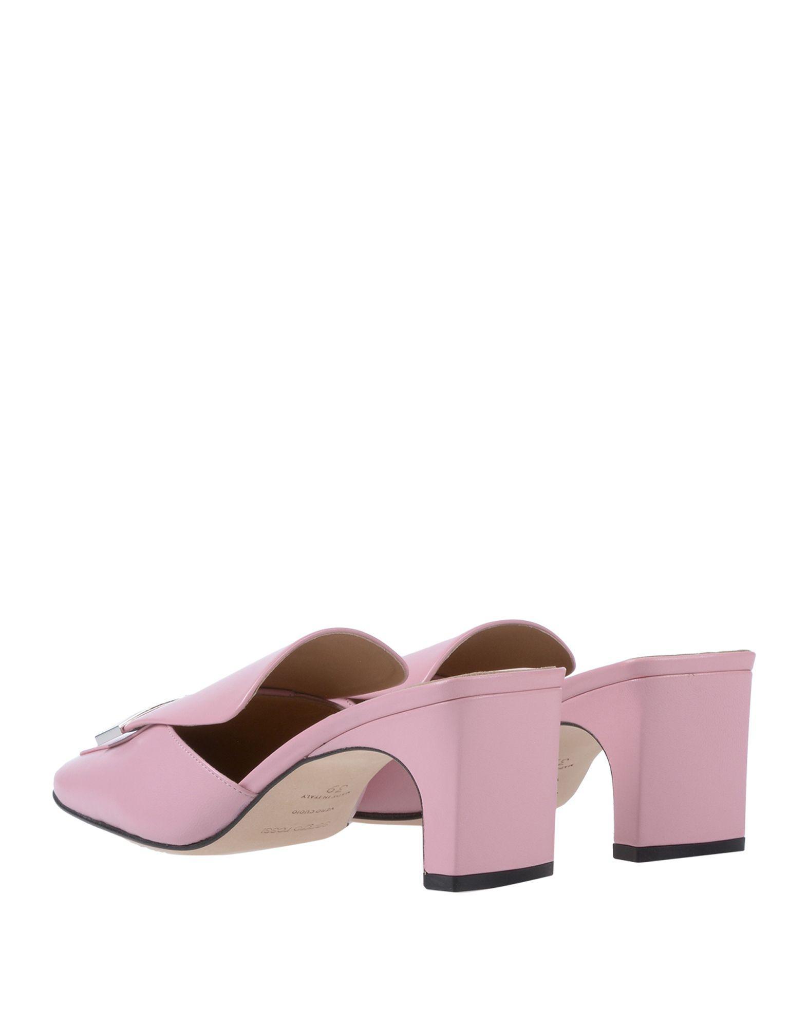 Mules & Zuecos Sergio Rossi de Cuero de color Rosa