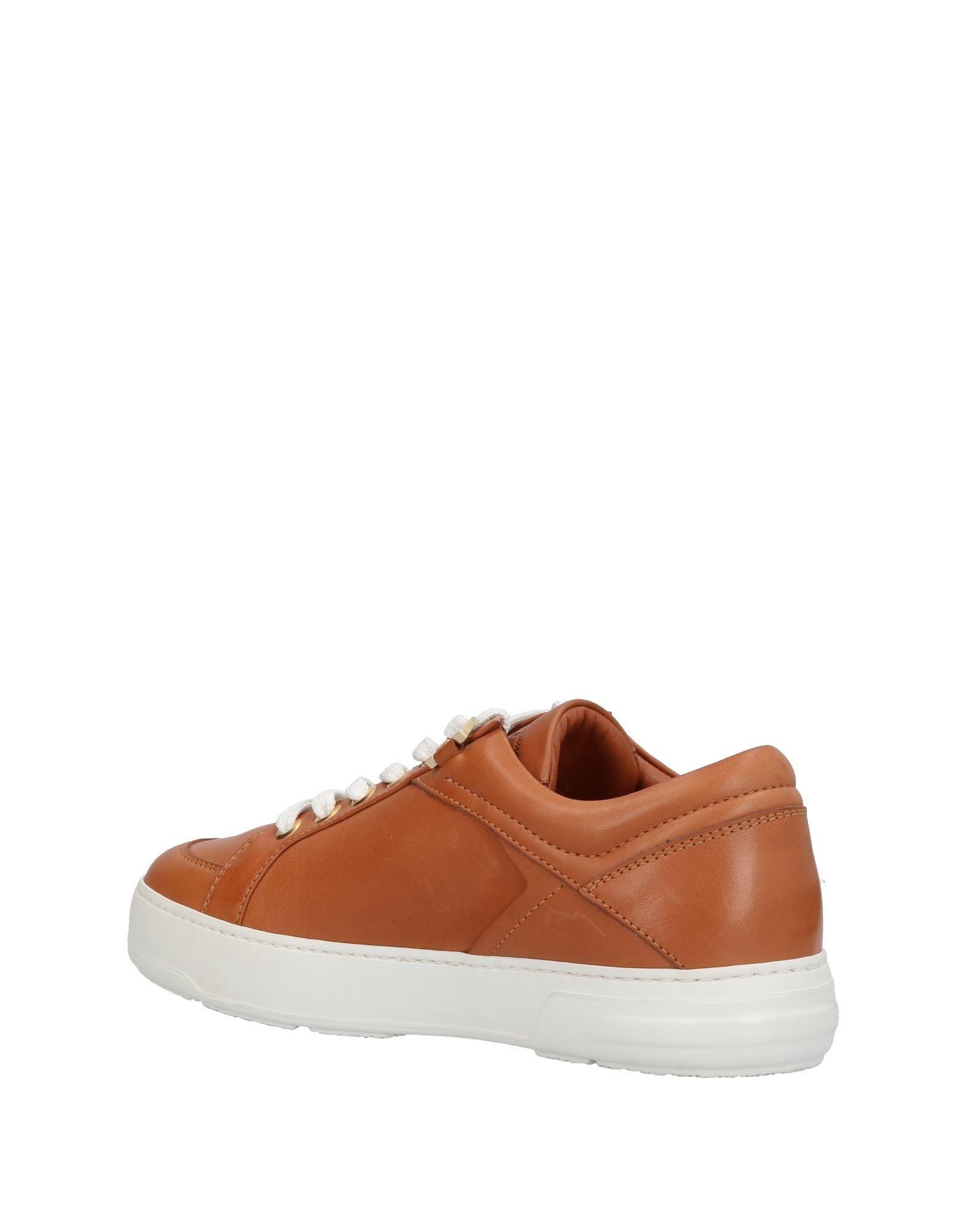 Ferragamo Leather Low-tops & Sneakers in Brown
