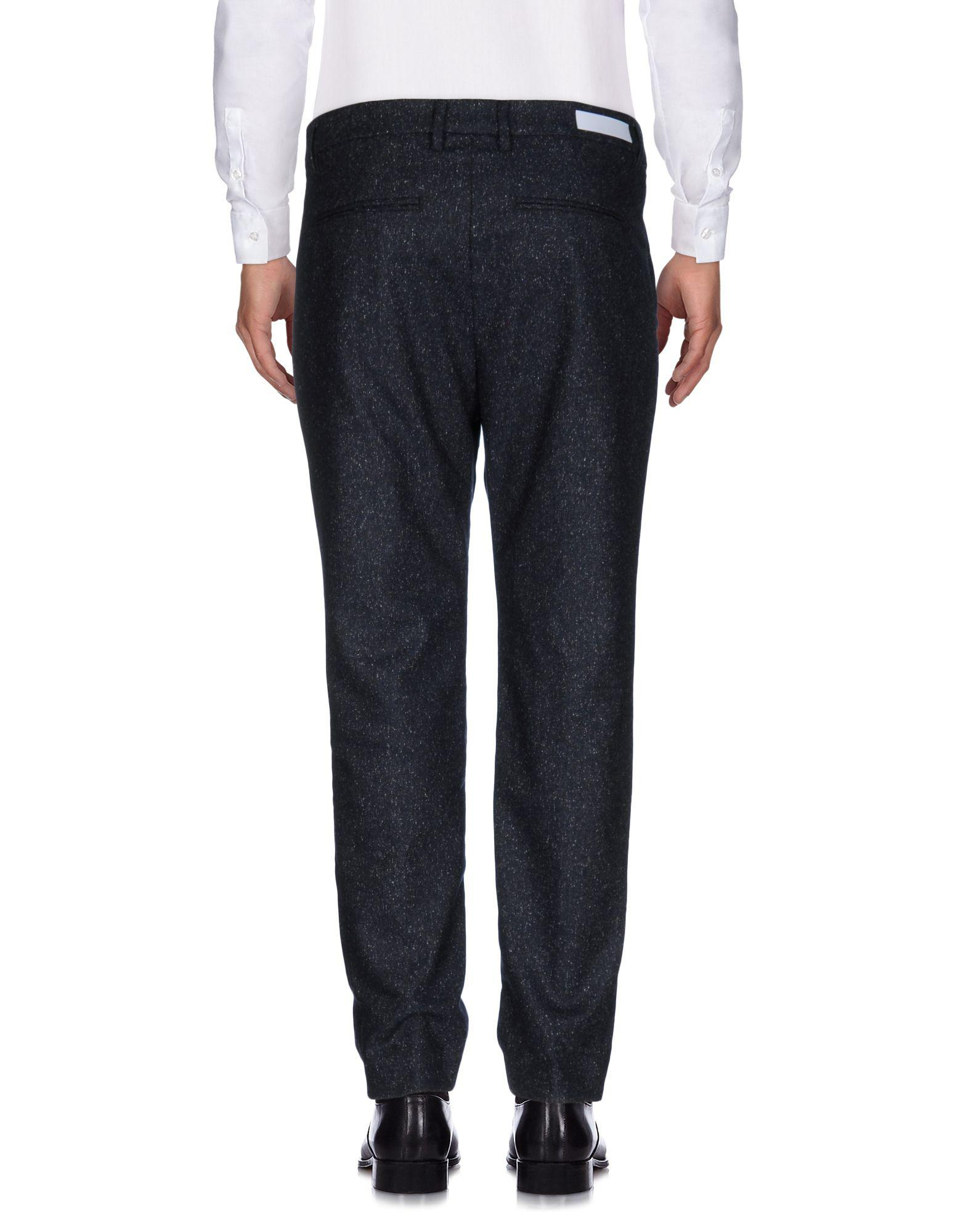 Haikure Flannel Casual Pants in Dark Blue (Blue) for Men