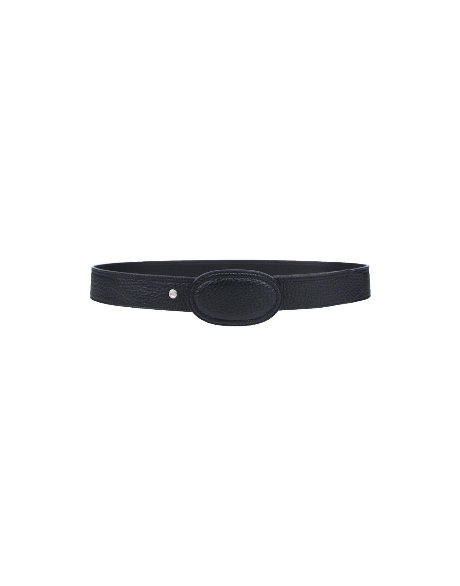 Maison Margiela Leather Belt In Black For Men Lyst