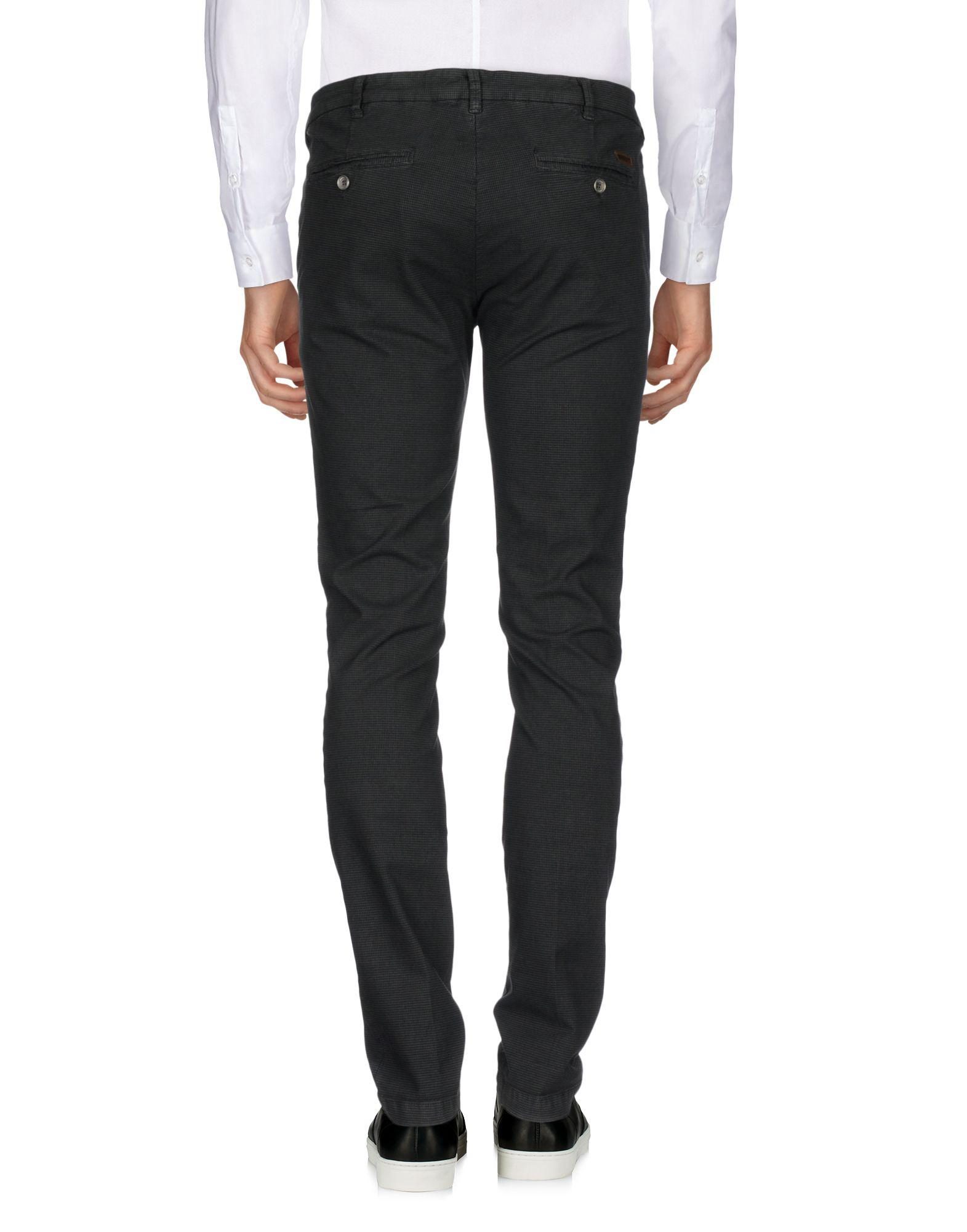 40weft Leather Casual Trouser in Steel Grey (Grey) for Men