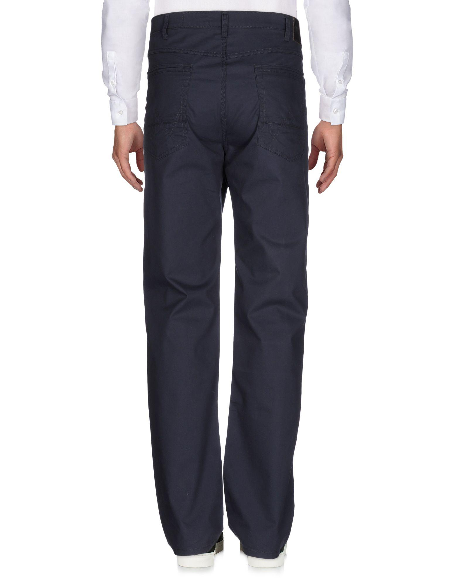 Wrangler Leather Casual Trouser in Dark Blue (Blue) for Men
