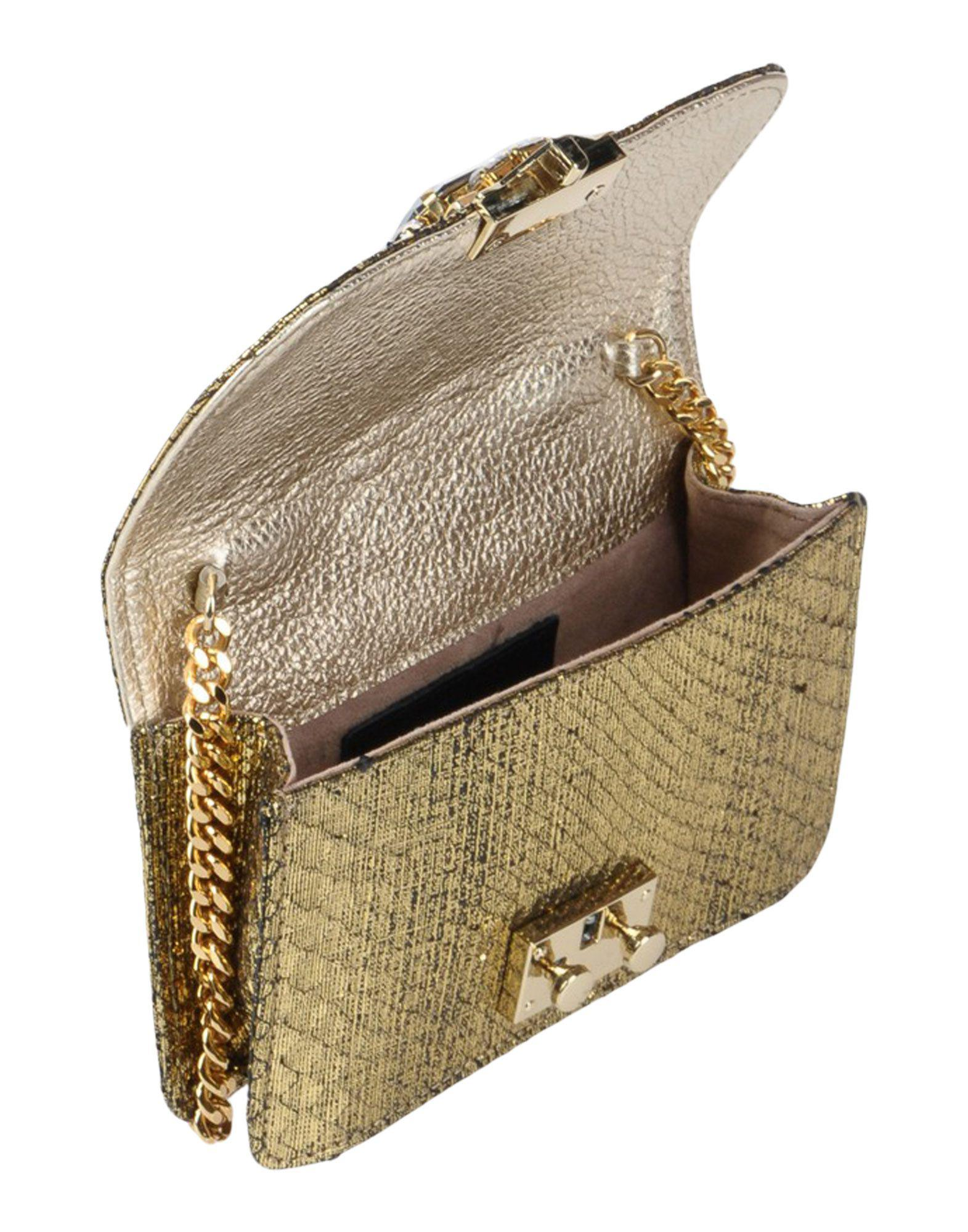 Gedebe Leather Cross-body Bag in Gold (Metallic)