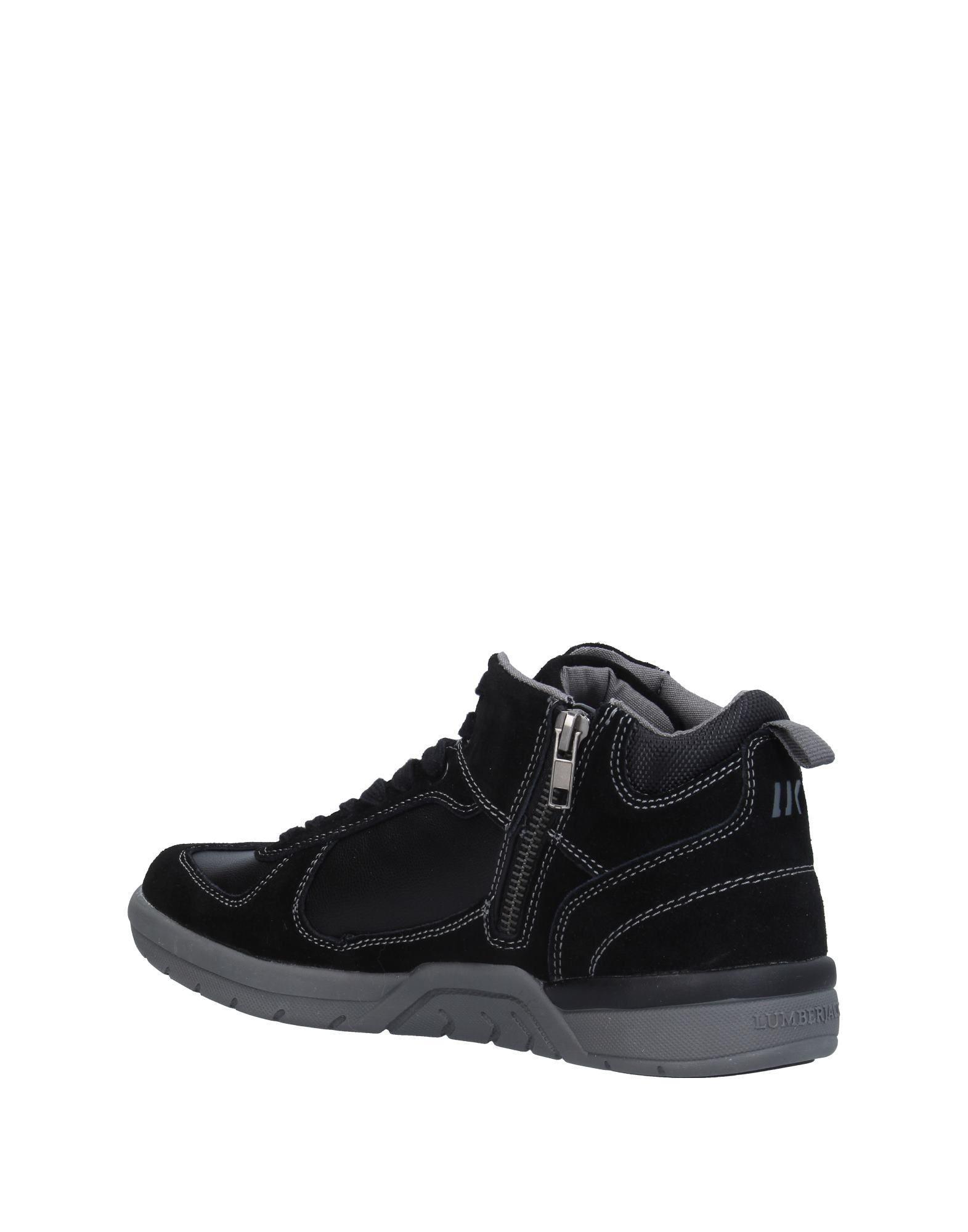 Sneakers abotinadas Lumberjack de Cuero de color Negro para hombre