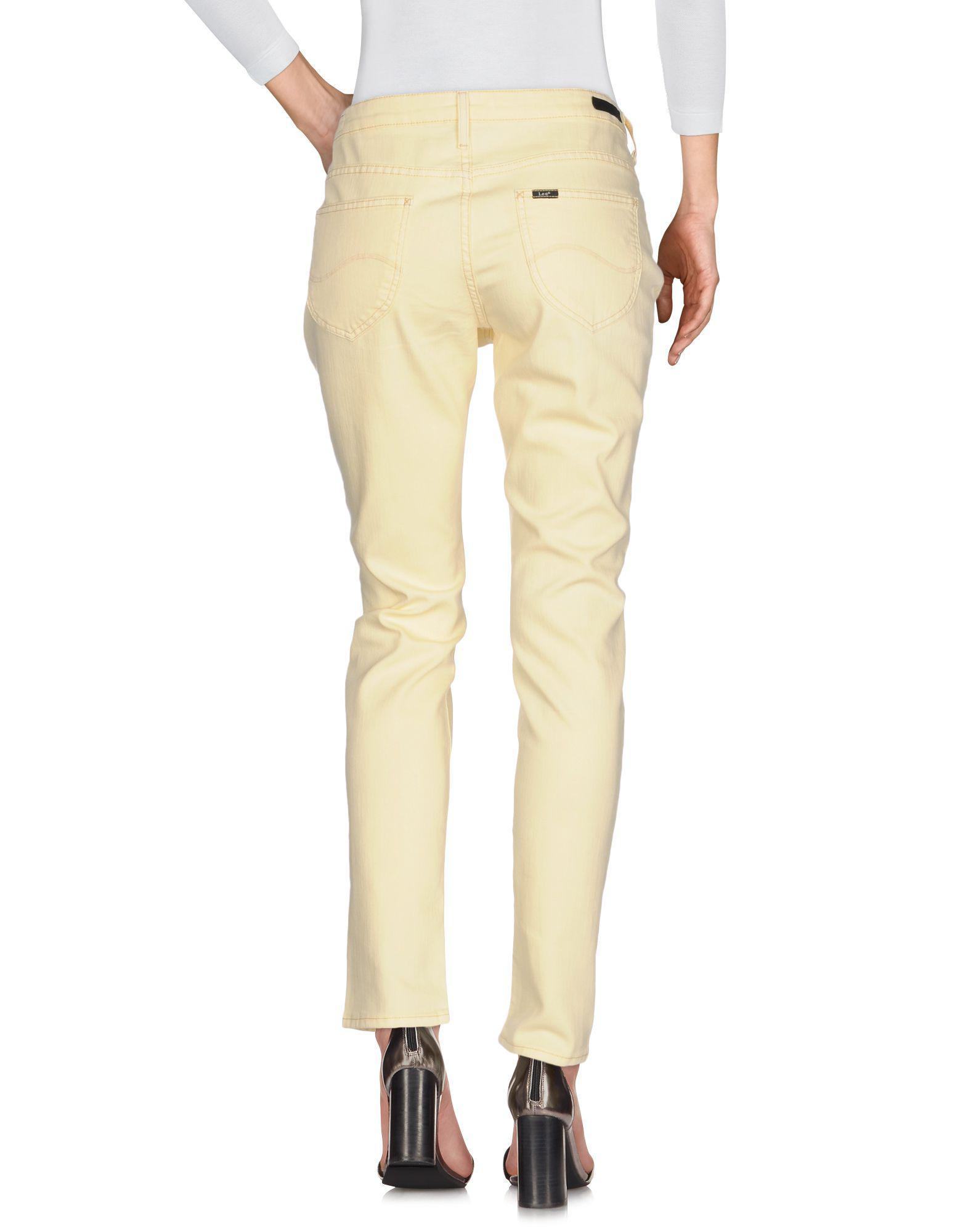 Lee Jeans Denim Pants in Light Yellow (Yellow)