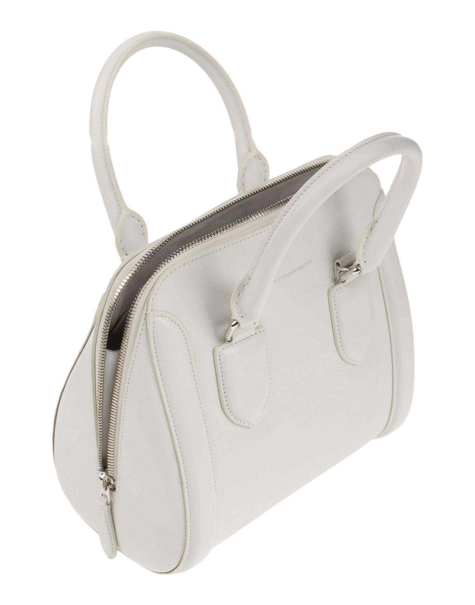 Alexander McQueen Leder Handtaschen in Weiß kfx4M
