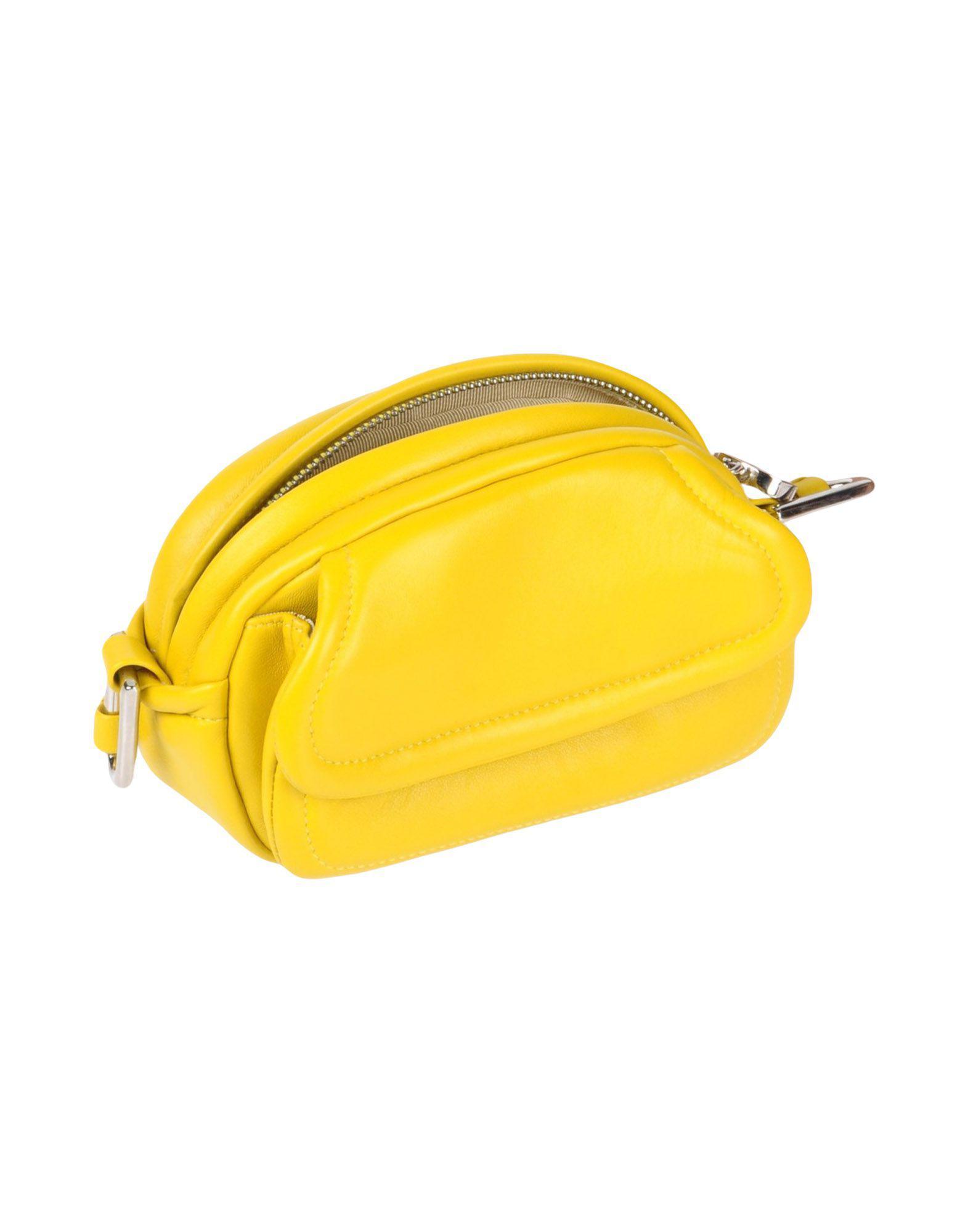 Rodo Leather Cross-body Bag in Yellow