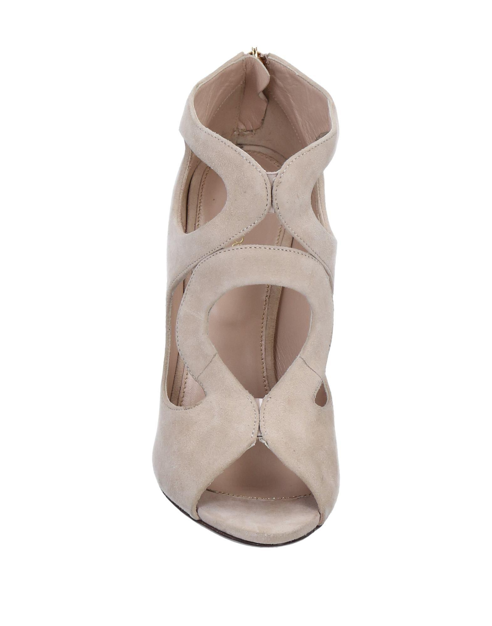 Sergio Rossi Leather Ankle Boots in Beige (Natural)