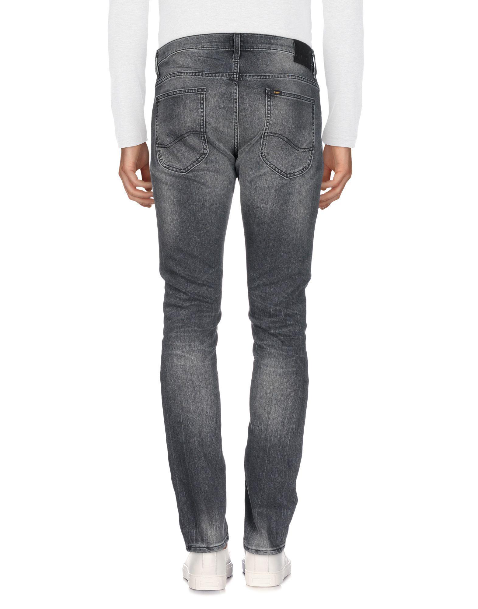 Lee Jeans Denim Trousers in Steel Grey (Grey) for Men