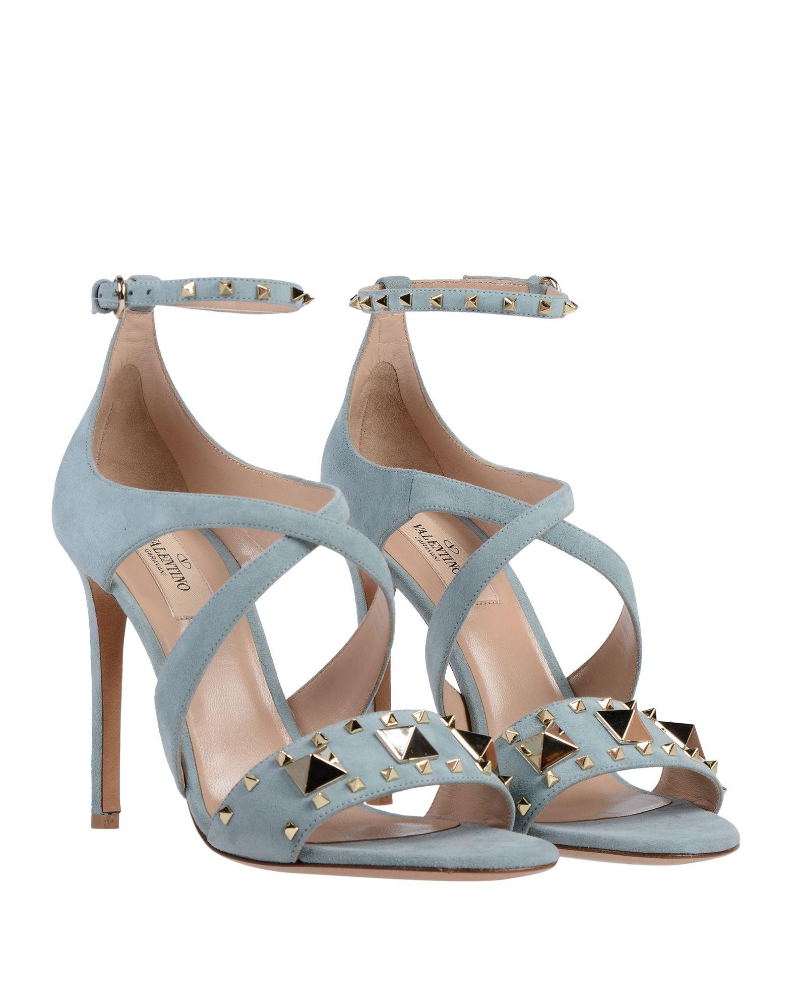 1ab266f02fee Valentino Sandals in Blue - Lyst