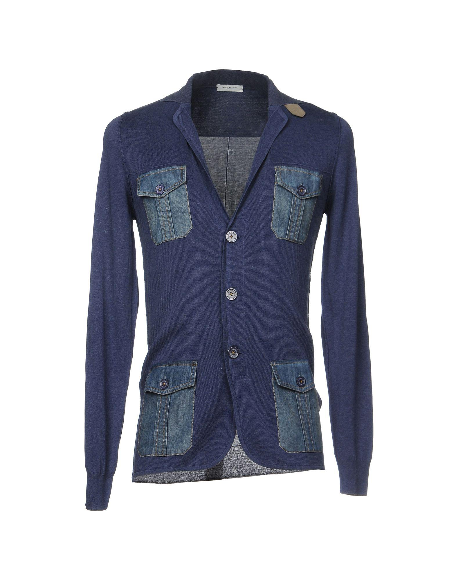 25f12f86383d5 Lyst - Paolo Pecora Cardigans in Blue for Men
