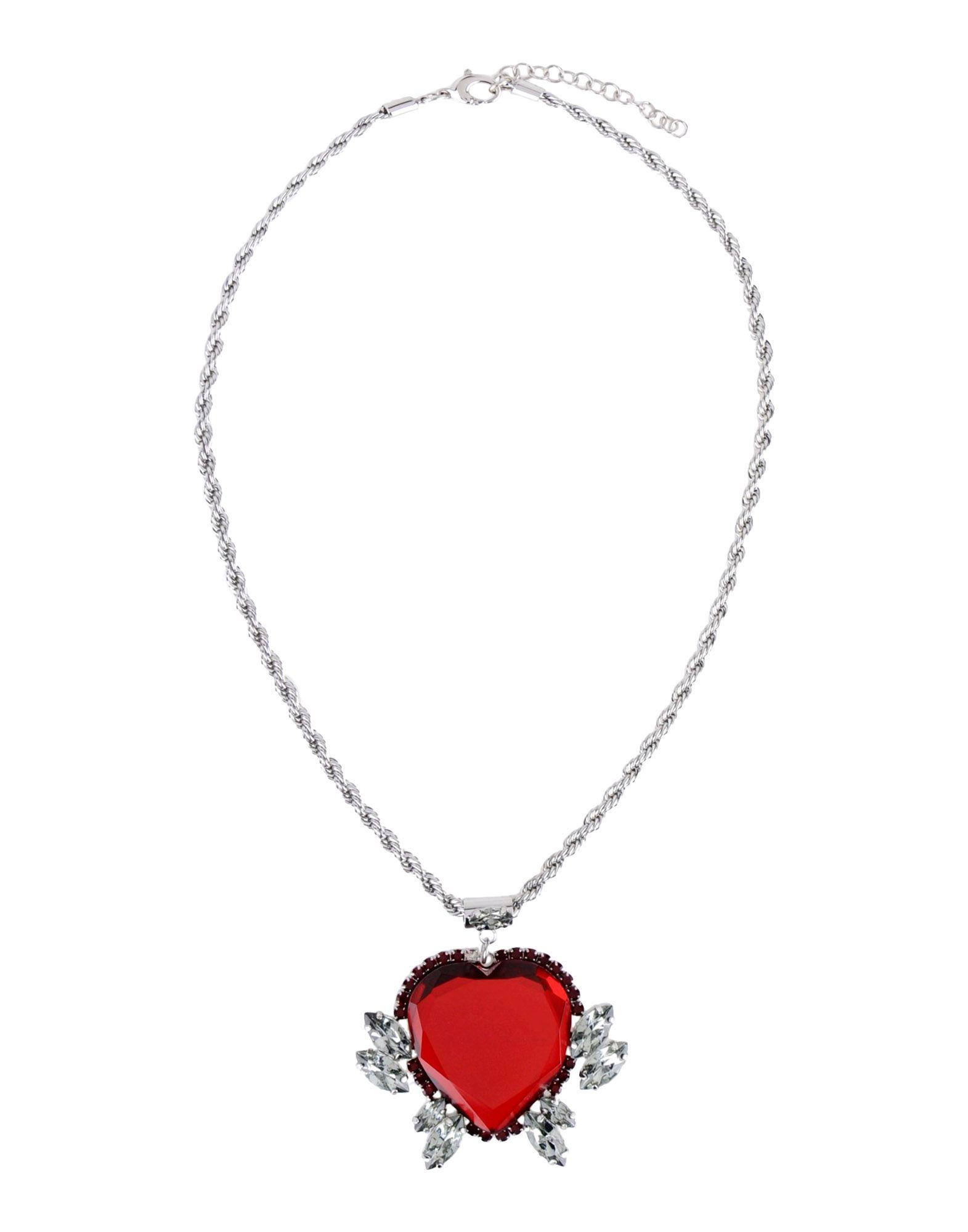 Pinko Necklace in Red (Metallic)