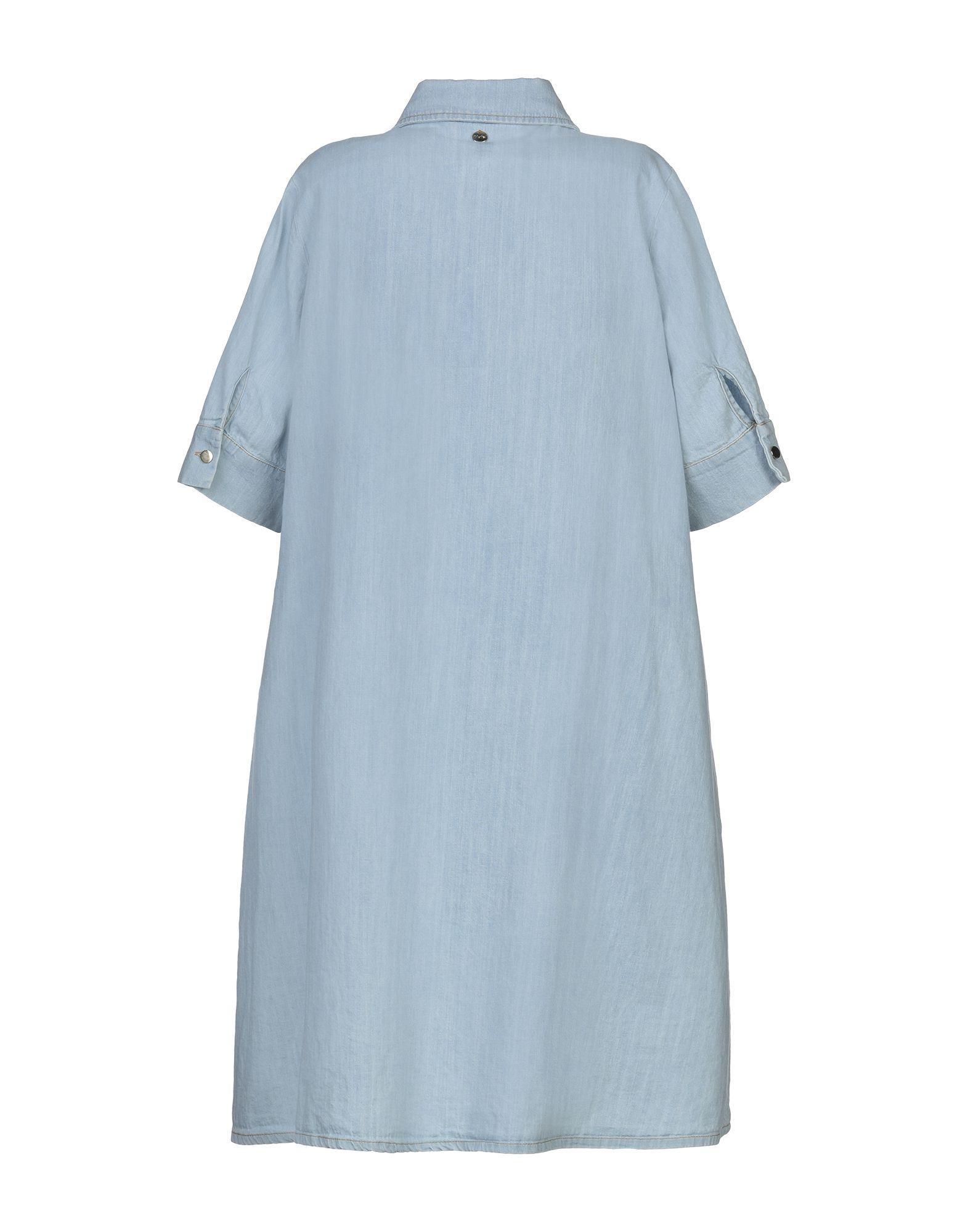 Motel Denim Kurzes Kleid in Blau