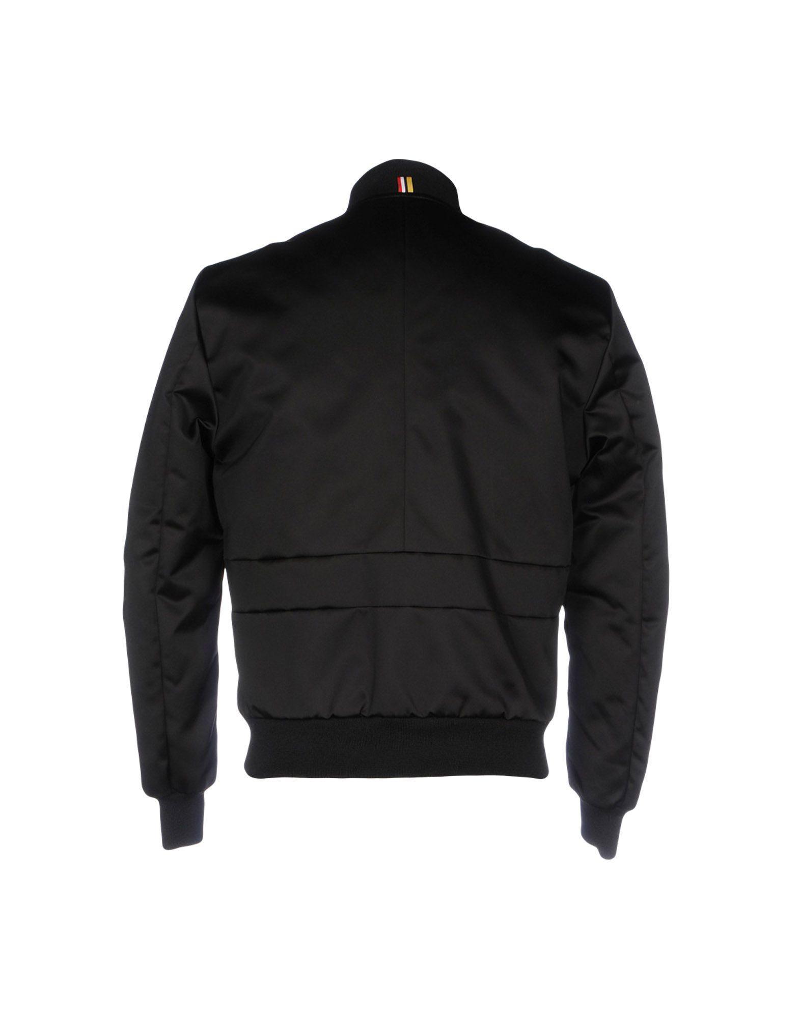 Low Brand Satin Jacket in Black for Men