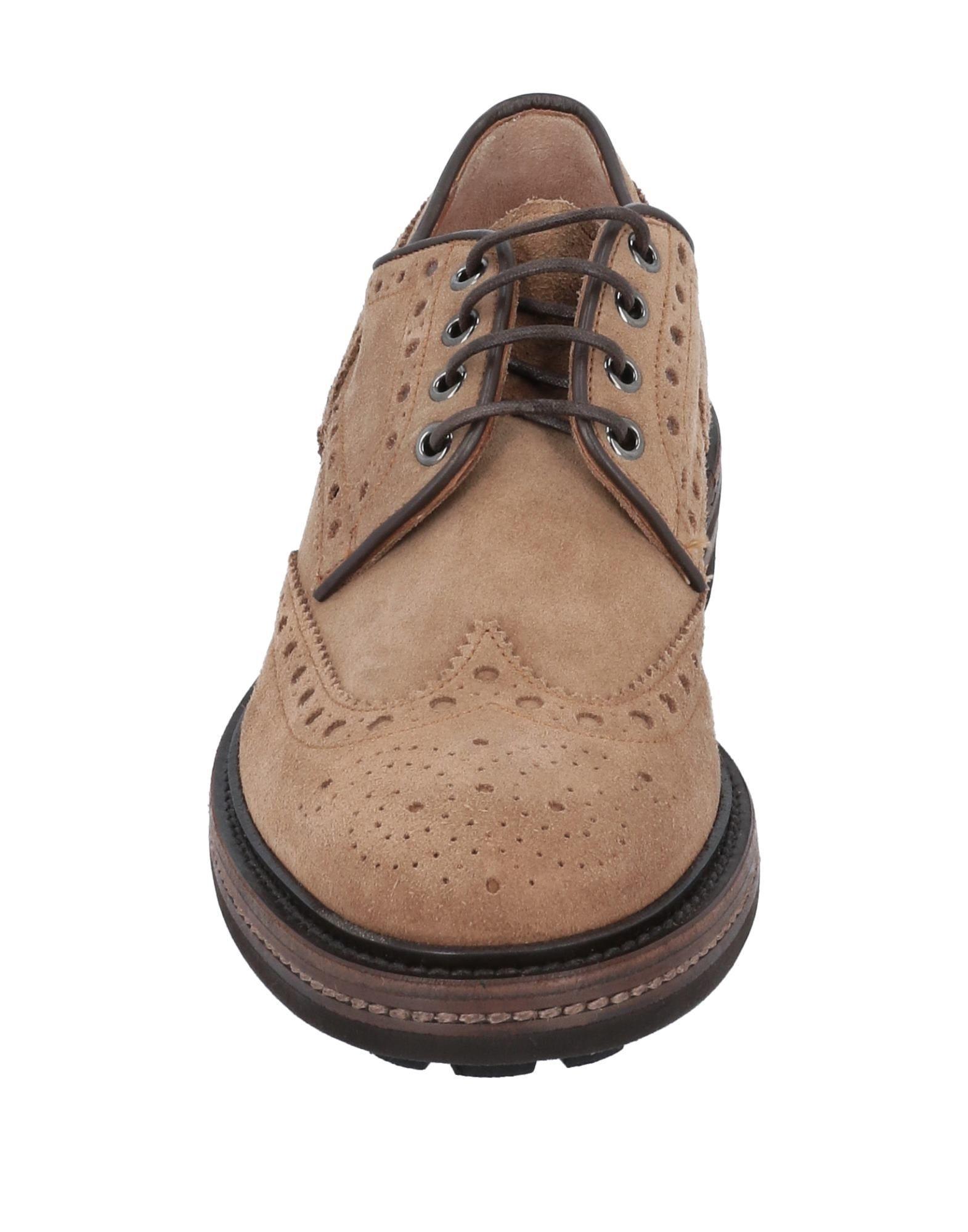 Zapatos de cordones Santoni de Ante de color Marrón para hombre