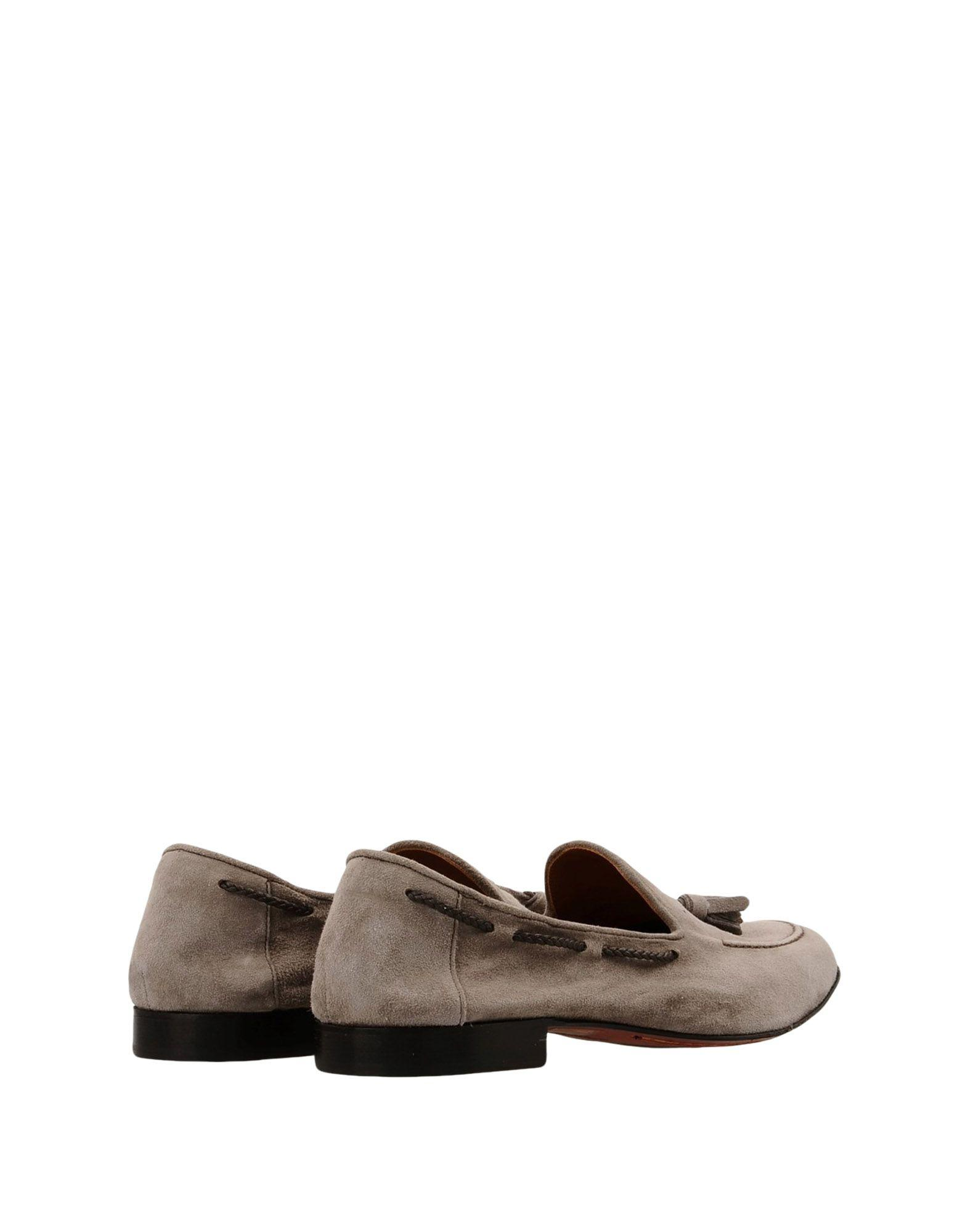 8 Suede Loafers in Grey for Men