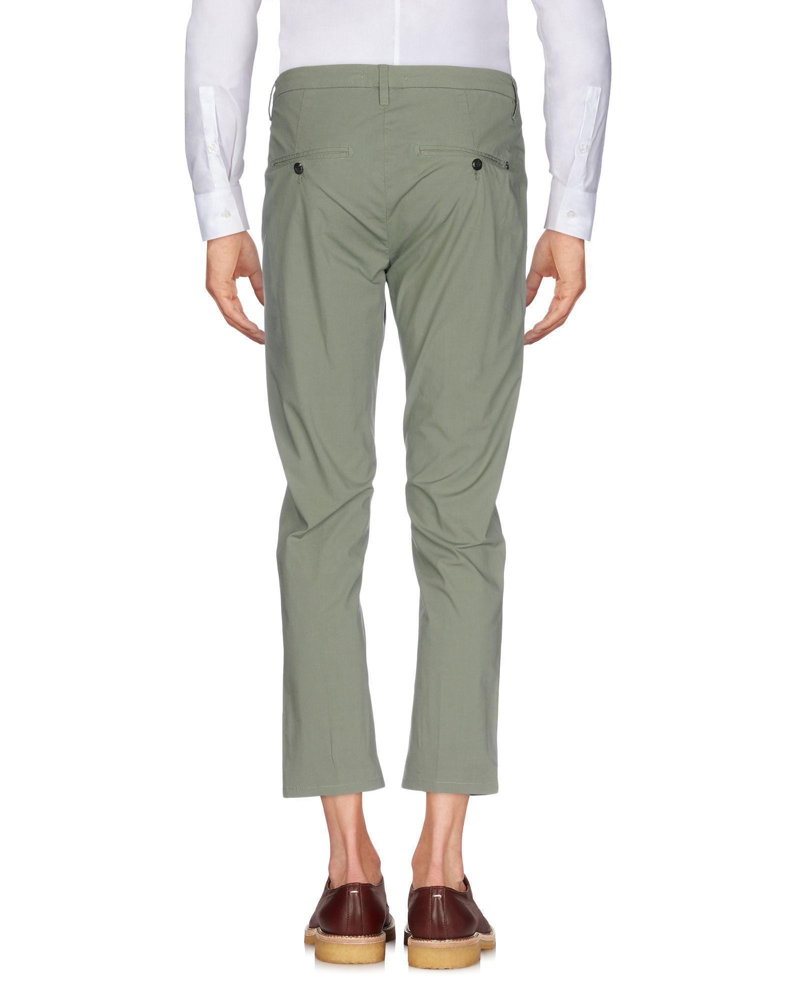Dondup Cotton Casual Trouser in Light Green (Green) for Men