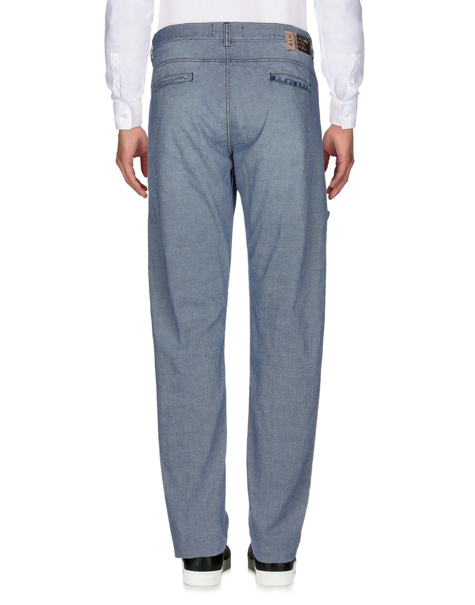 2W2M Leder Hose in Blau für Herren