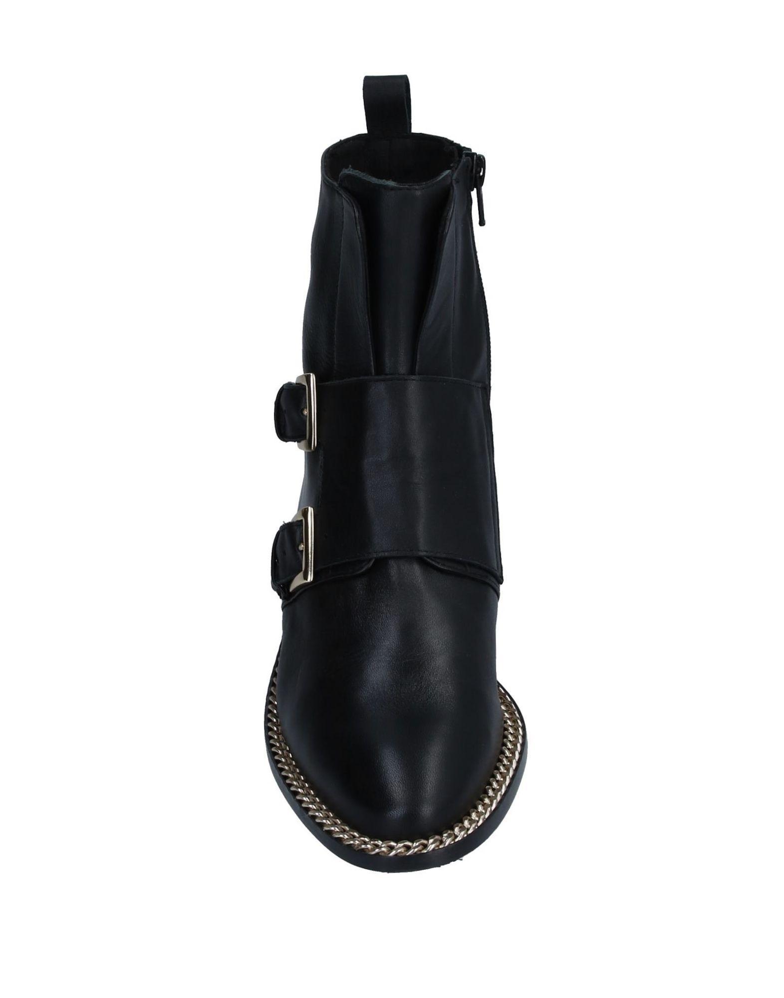 Botines de caña alta KMB de Cuero de color Negro