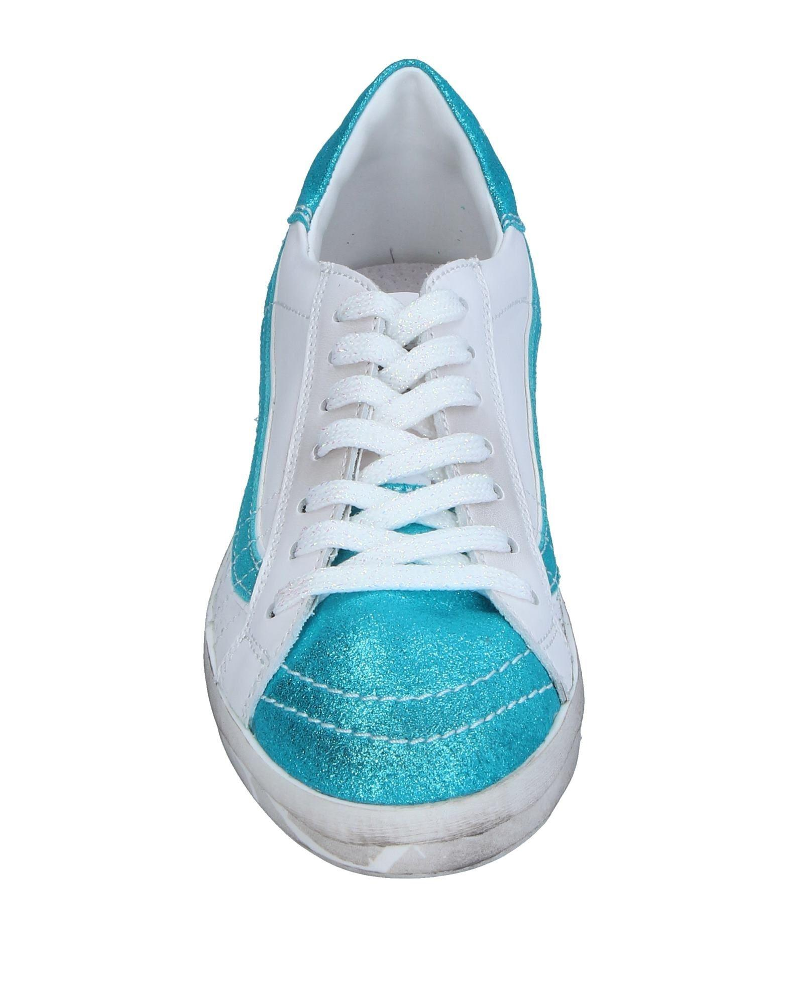Primabase Leather Low-tops & Sneakers in Turquoise (Blue)