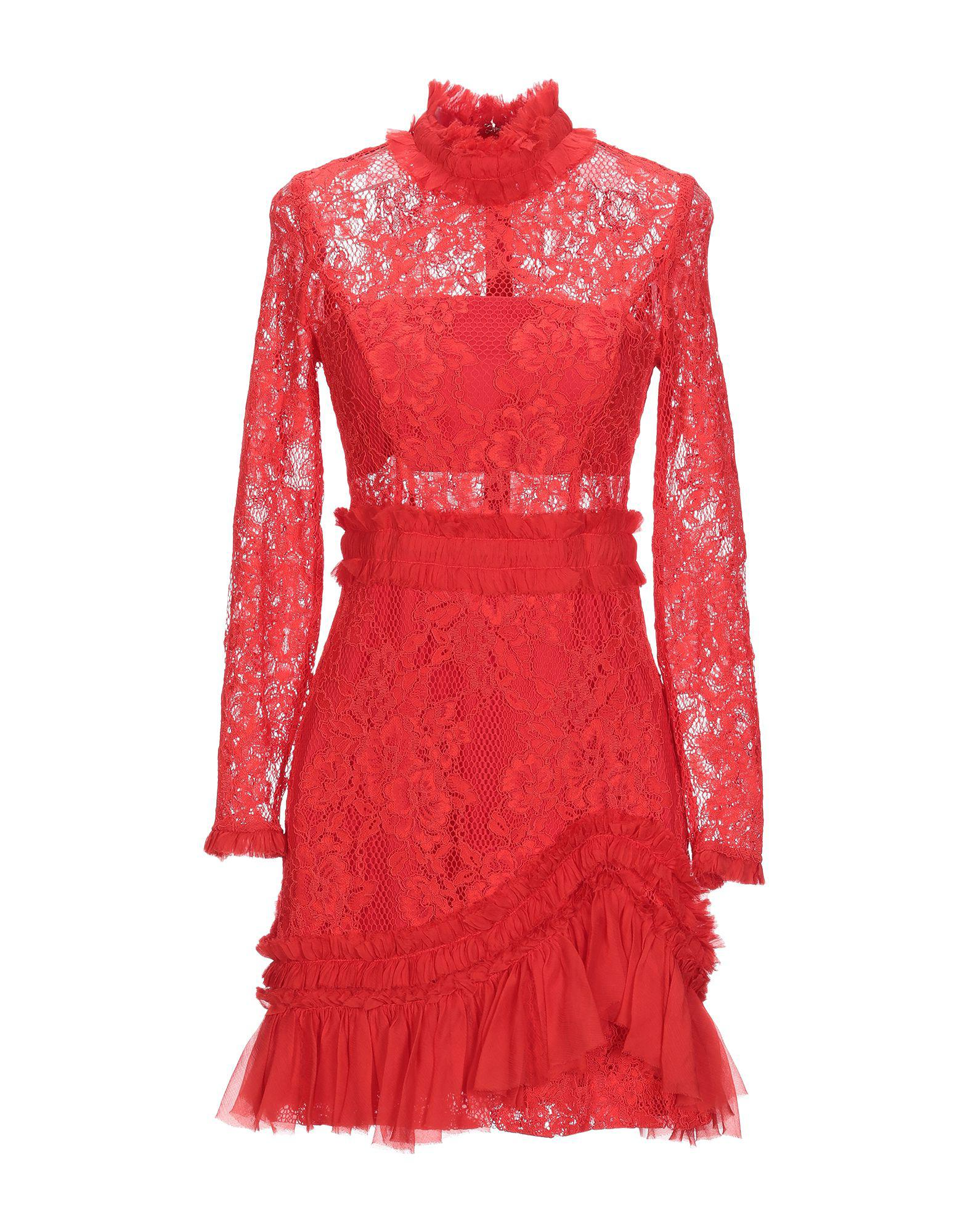 94b289ad877 Lyst - Alexis Short Dress in Red