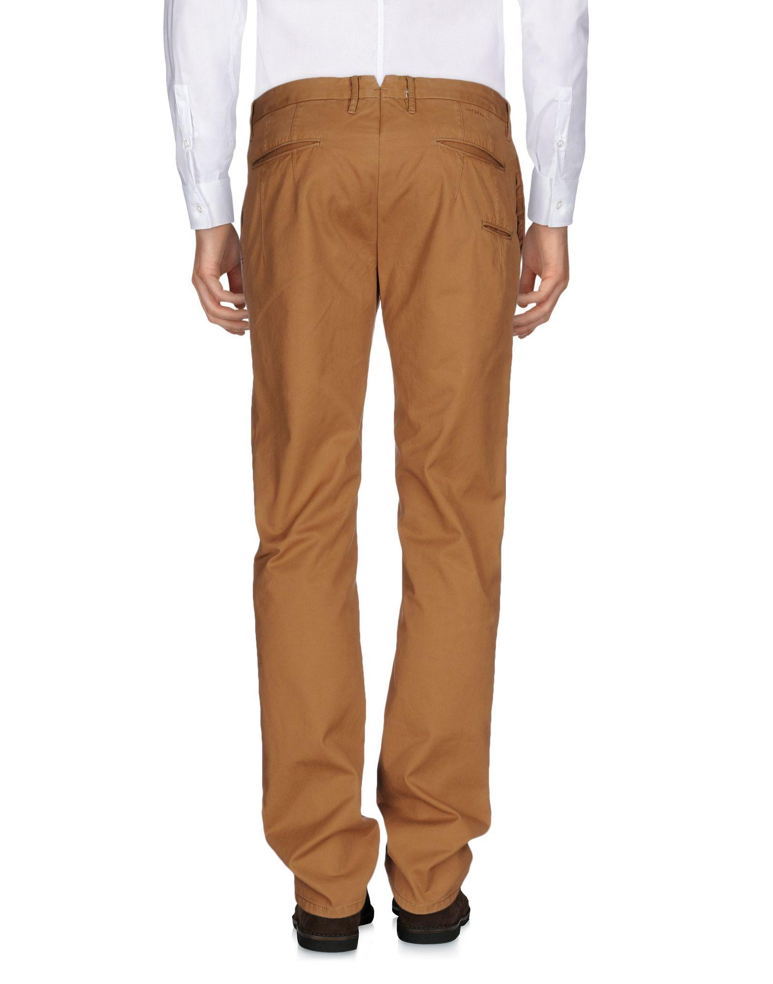 Incotex Red Cotton Casual Trouser in Camel (Blue) for Men