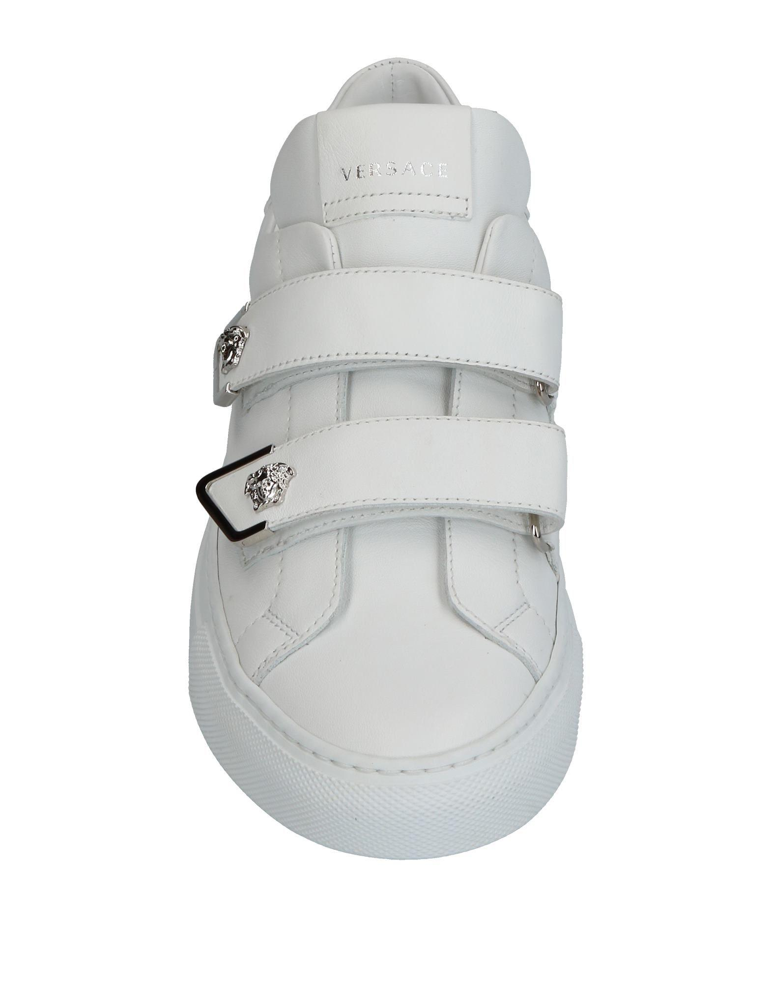 Versace Leather Low-tops & Sneakers in White