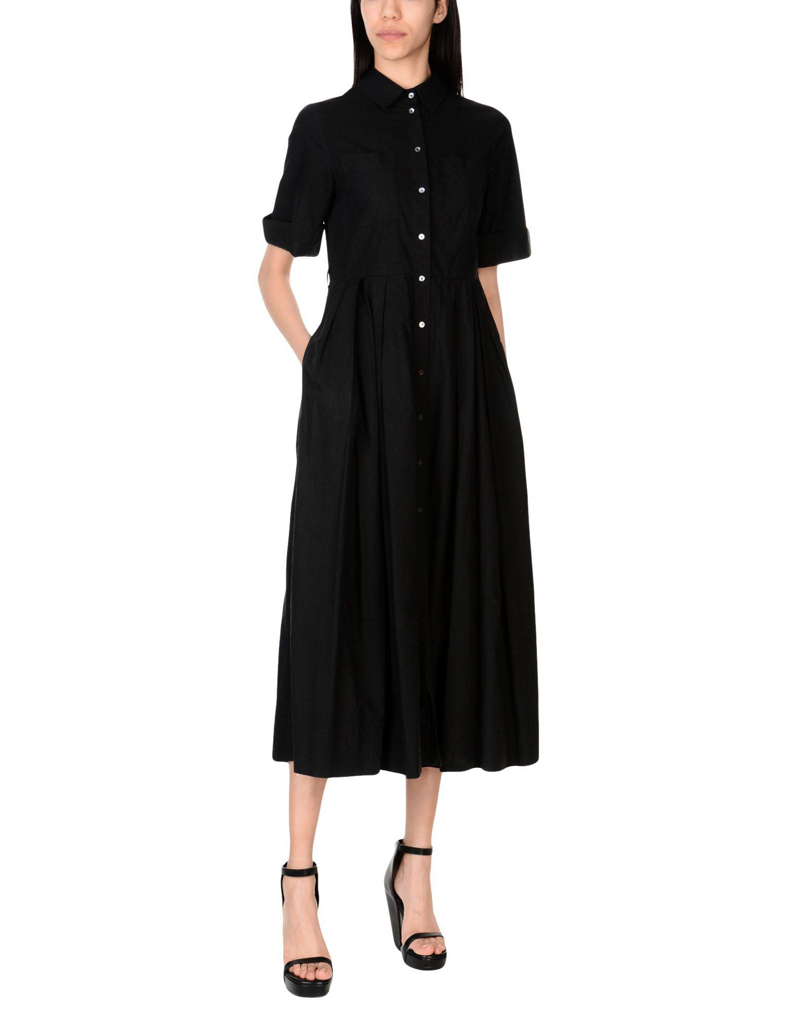 Attic And Barn 3/4 Length Dress in Black - Lyst
