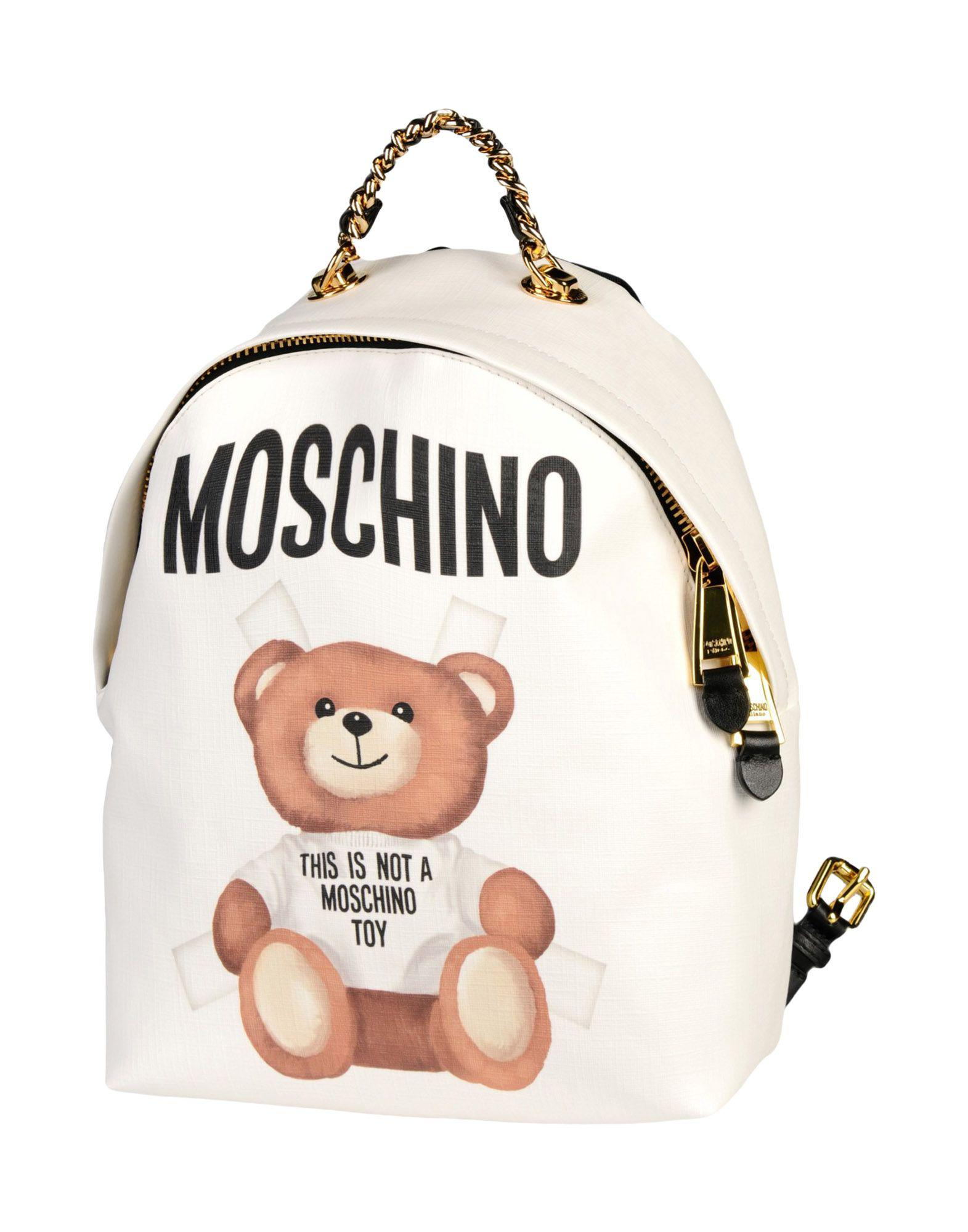 Lyst - Moschino Backpacks   Fanny Packs in White 4911d63045