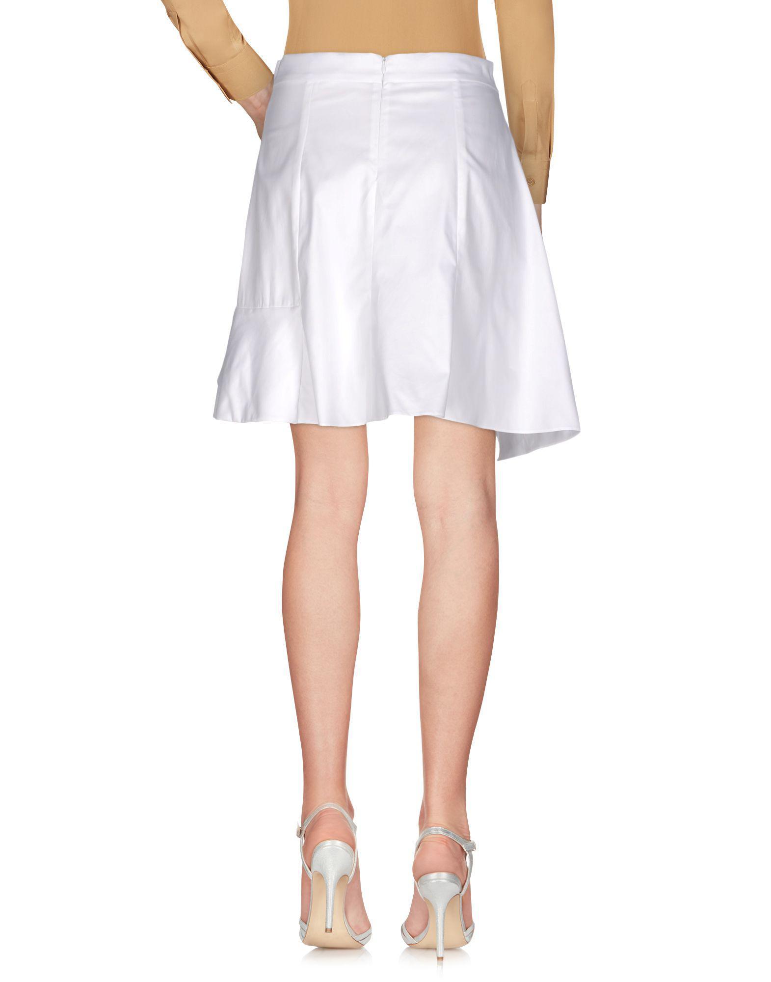Mini-jupe Coton Carven en coloris Blanc