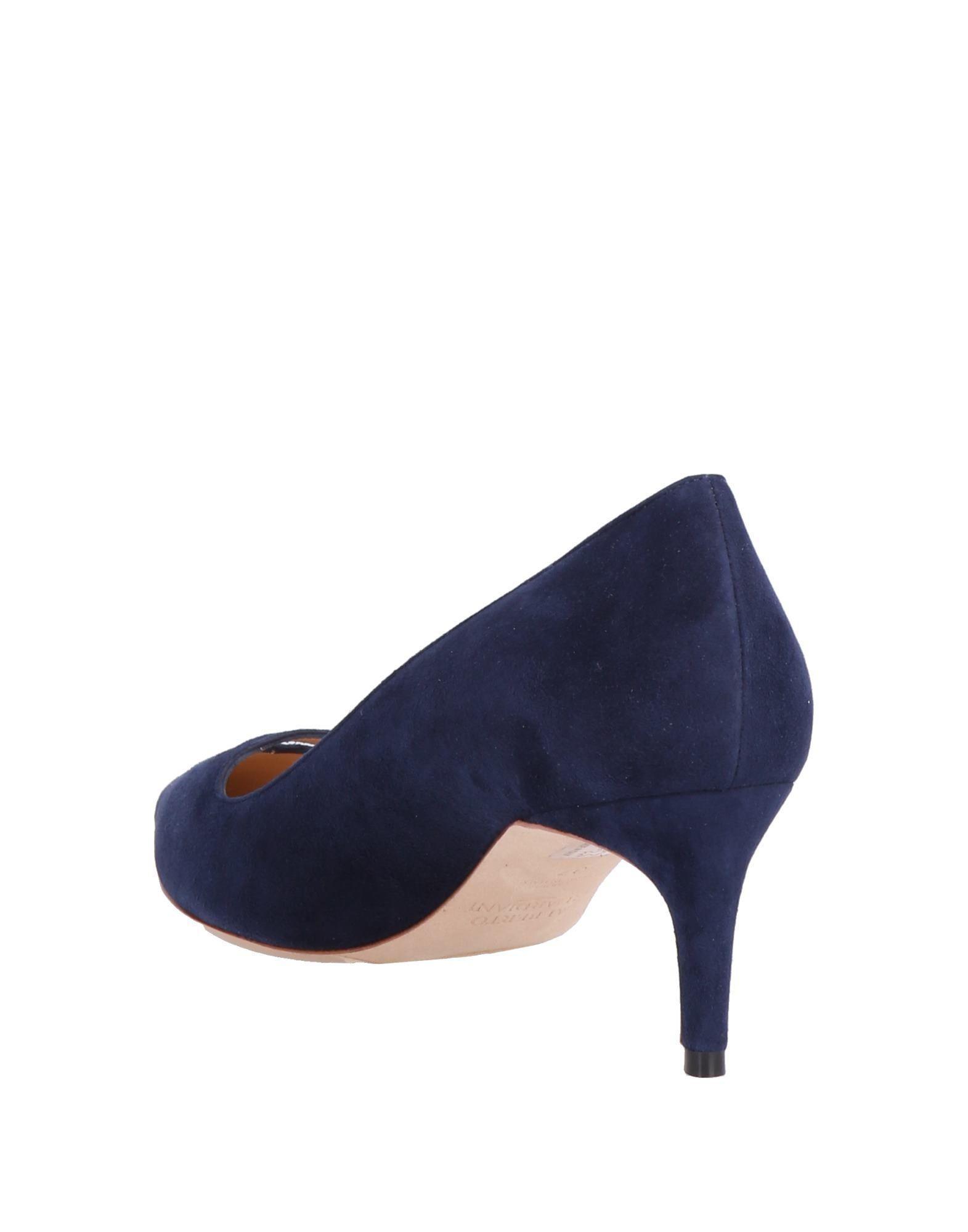 Zapatos de salón Alberto Guardiani de Ante de color Azul