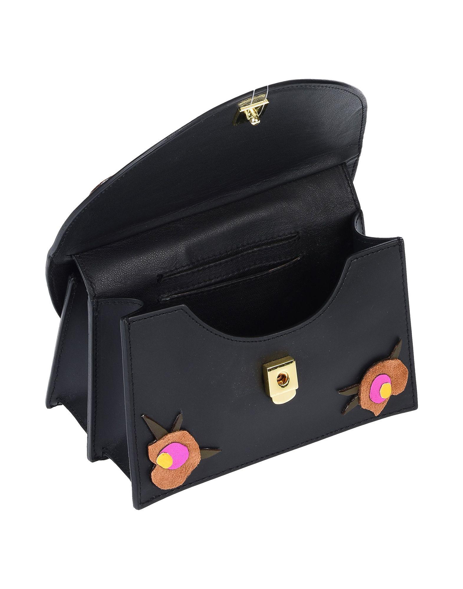 Imemoi Leder Handtaschen in Schwarz y5sqb