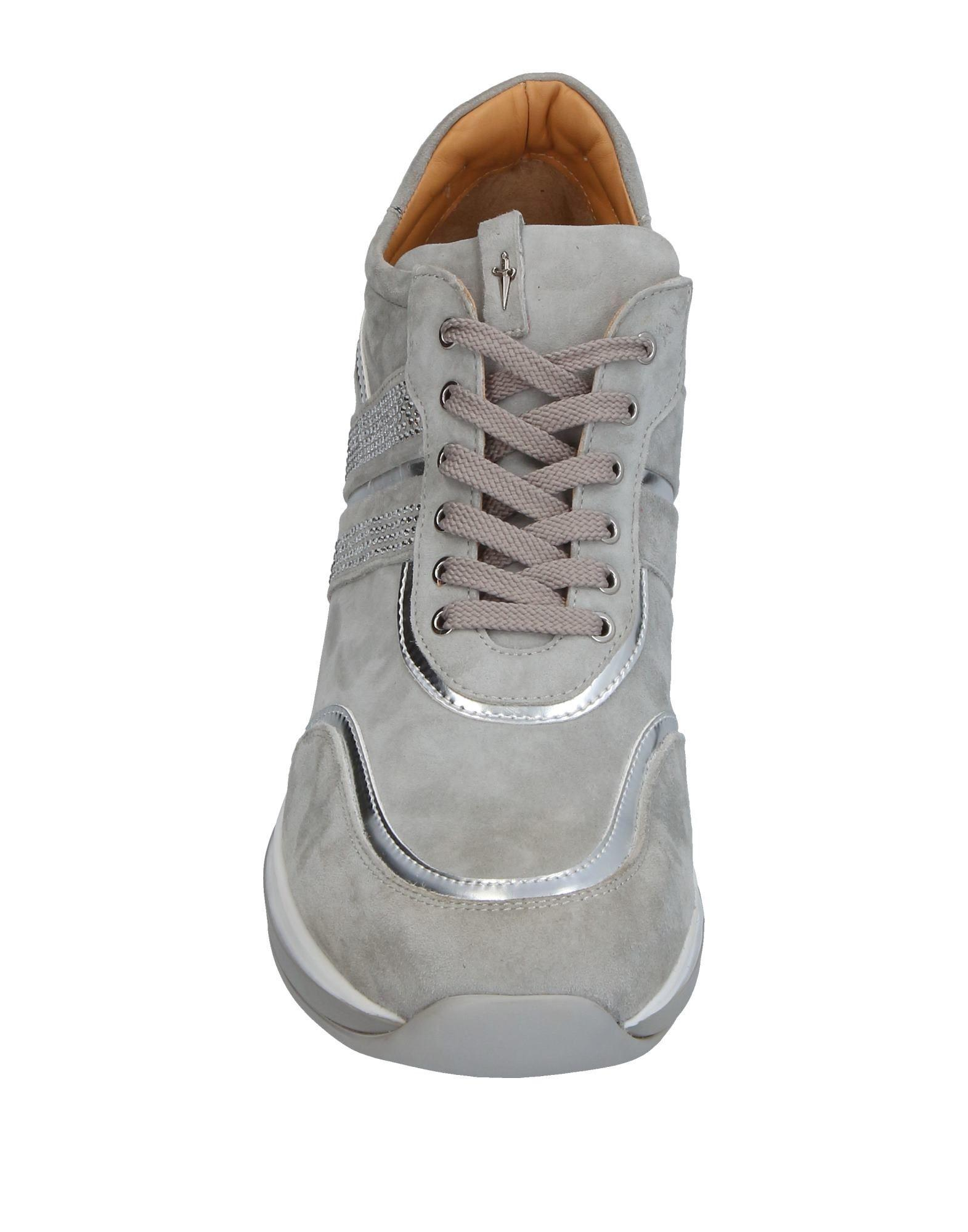 Cesare Paciotti Leather Low-tops & Sneakers in Light Grey (Grey)
