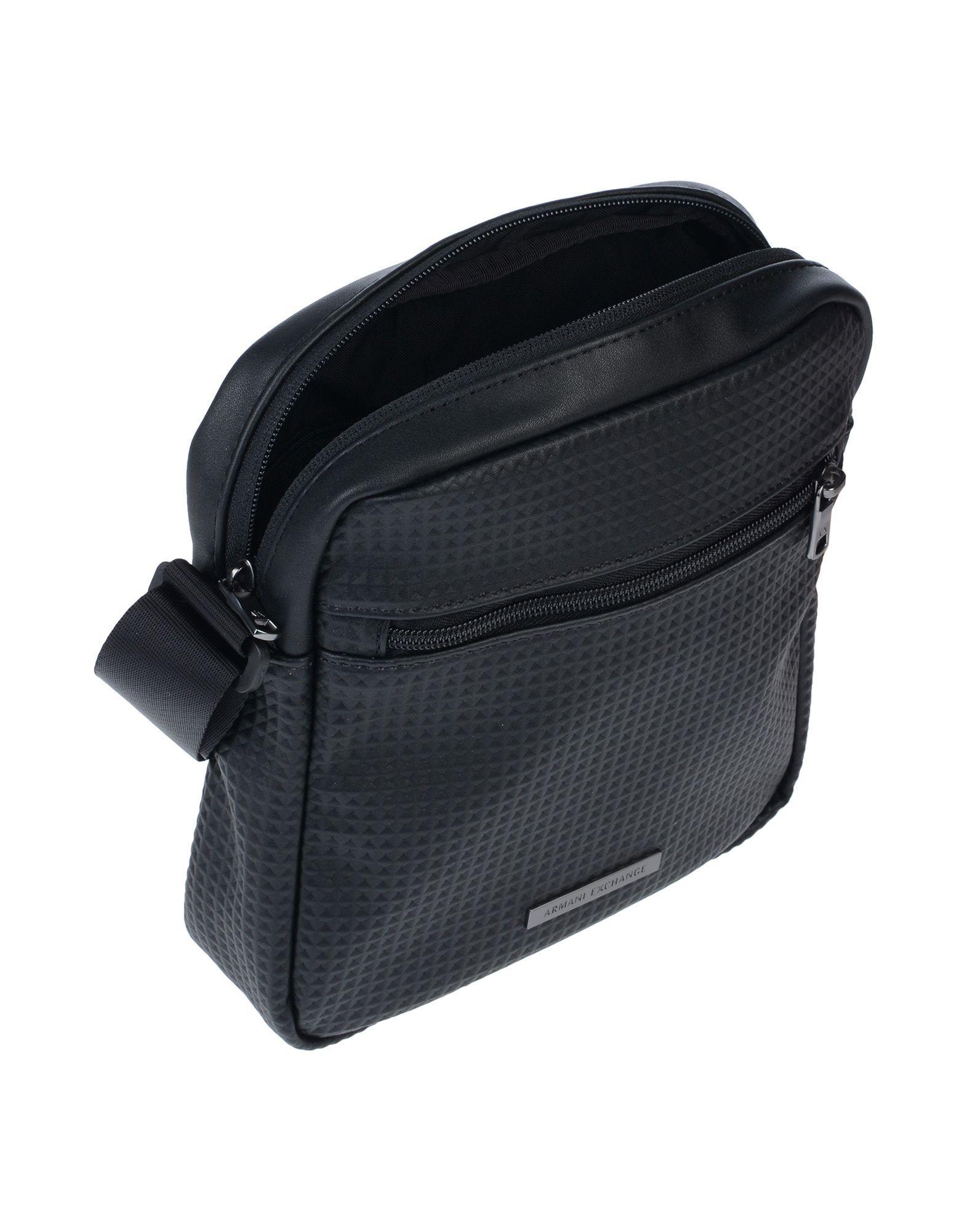 8f612c8c8547 Armani Exchange Cross-body Bag in Black for Men - Lyst