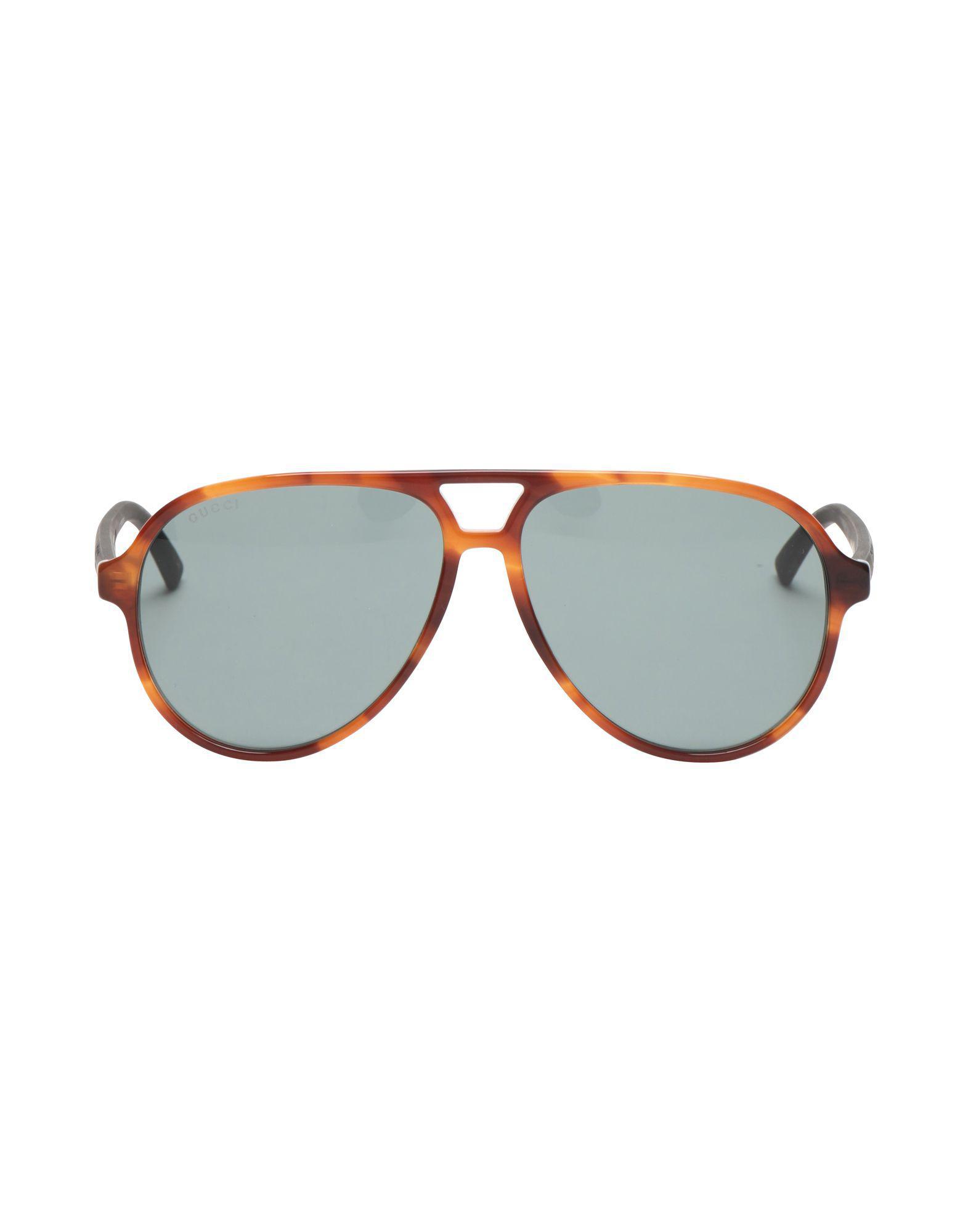 4b98abb4158 Gucci Sunglasses in Brown for Men - Lyst