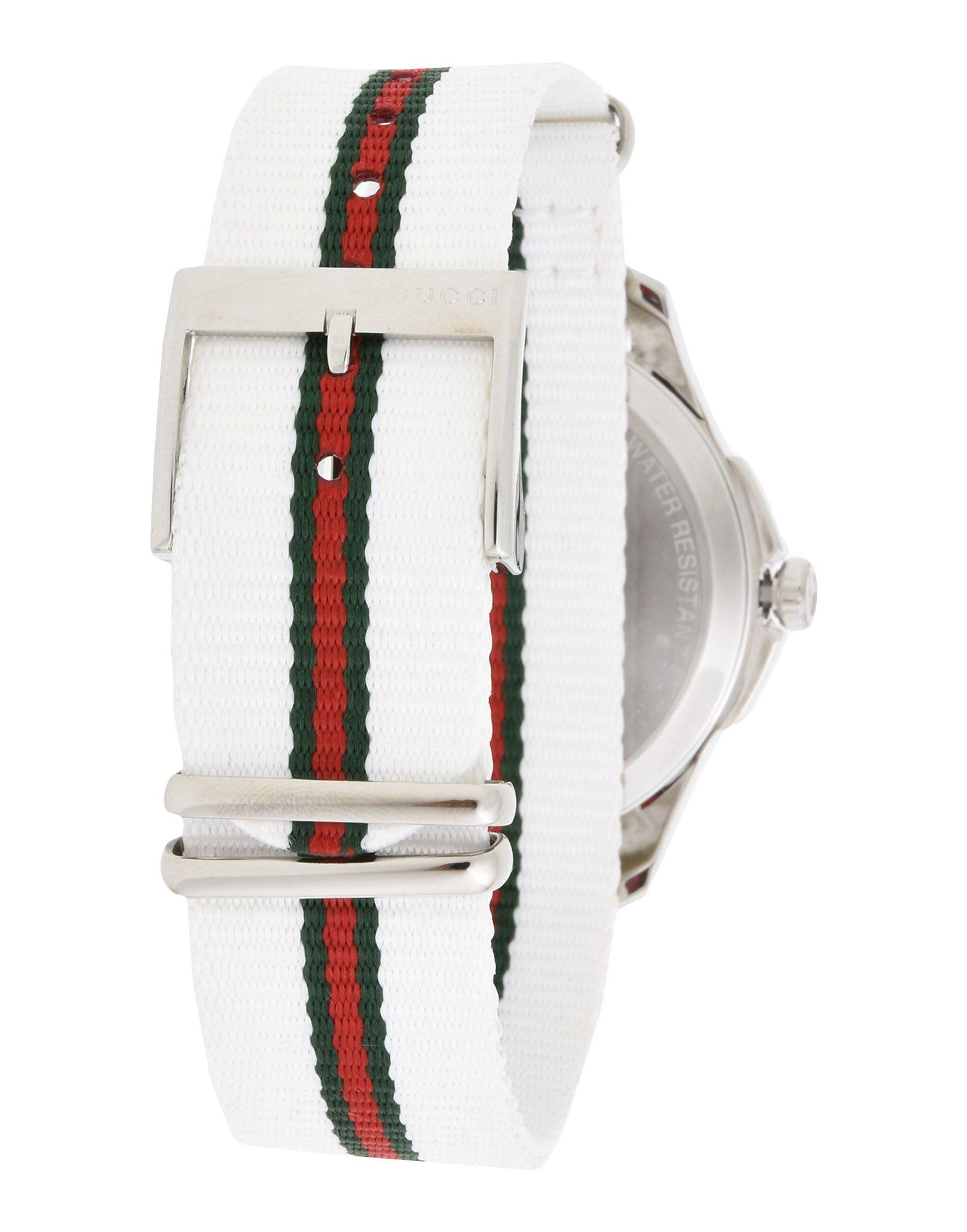 gucci wrist watch in white for men lyst